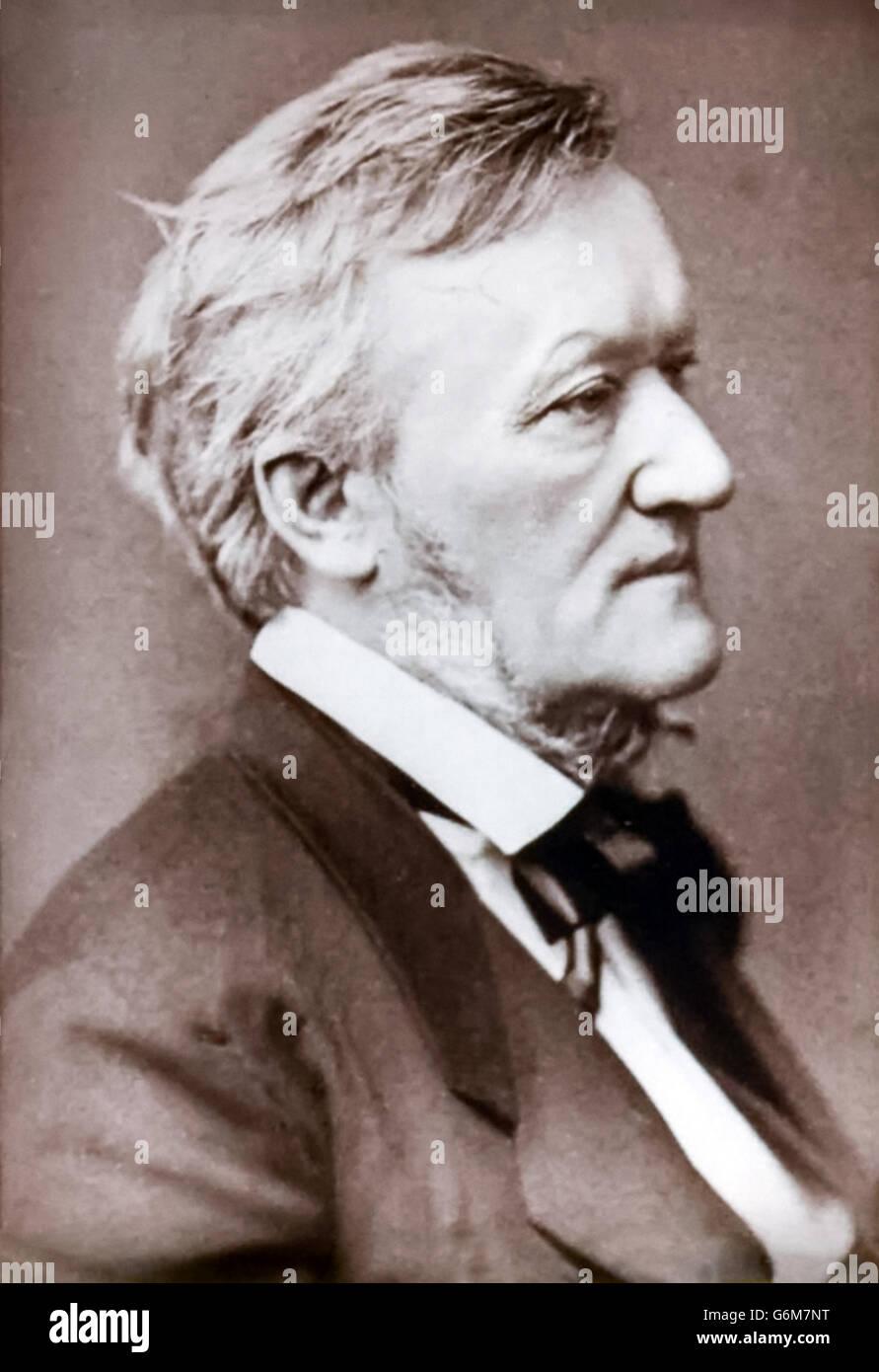Richard Wagner (1813-1883) German composer, studio photograph circa 1873. Stock Photo