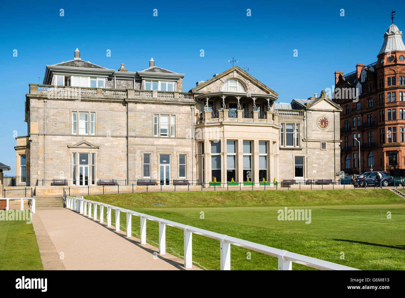 View of Royal and Ancient Clubhouse at the Old Course in St Andrews in Fife , Scotland, United Kingdom - Stock Image
