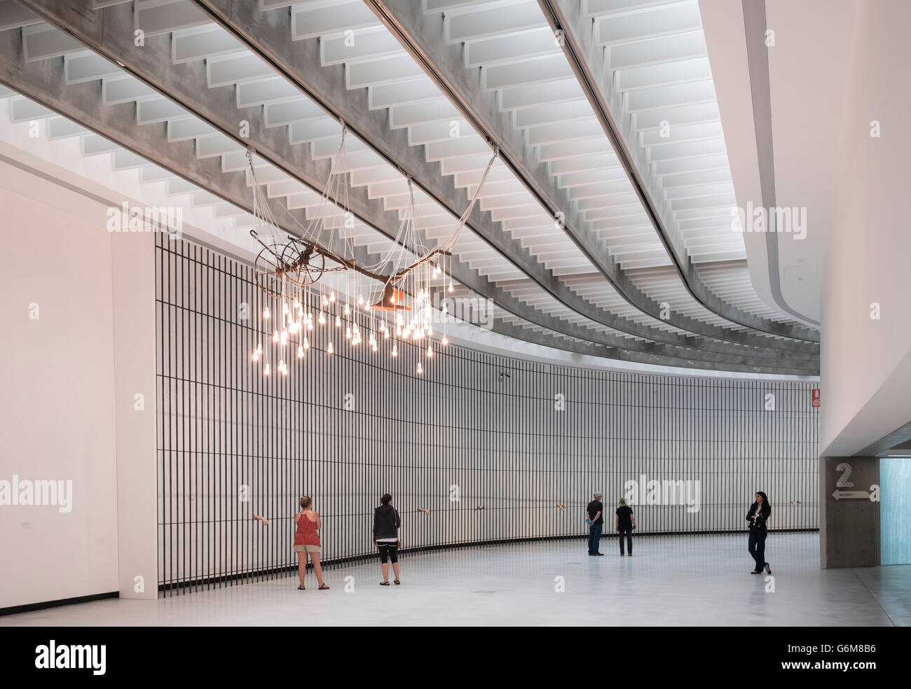 Interior of MAXXI National Centre of Contemporary Arts designed by Zaha Hadid in Rome, Italy Stock Photo