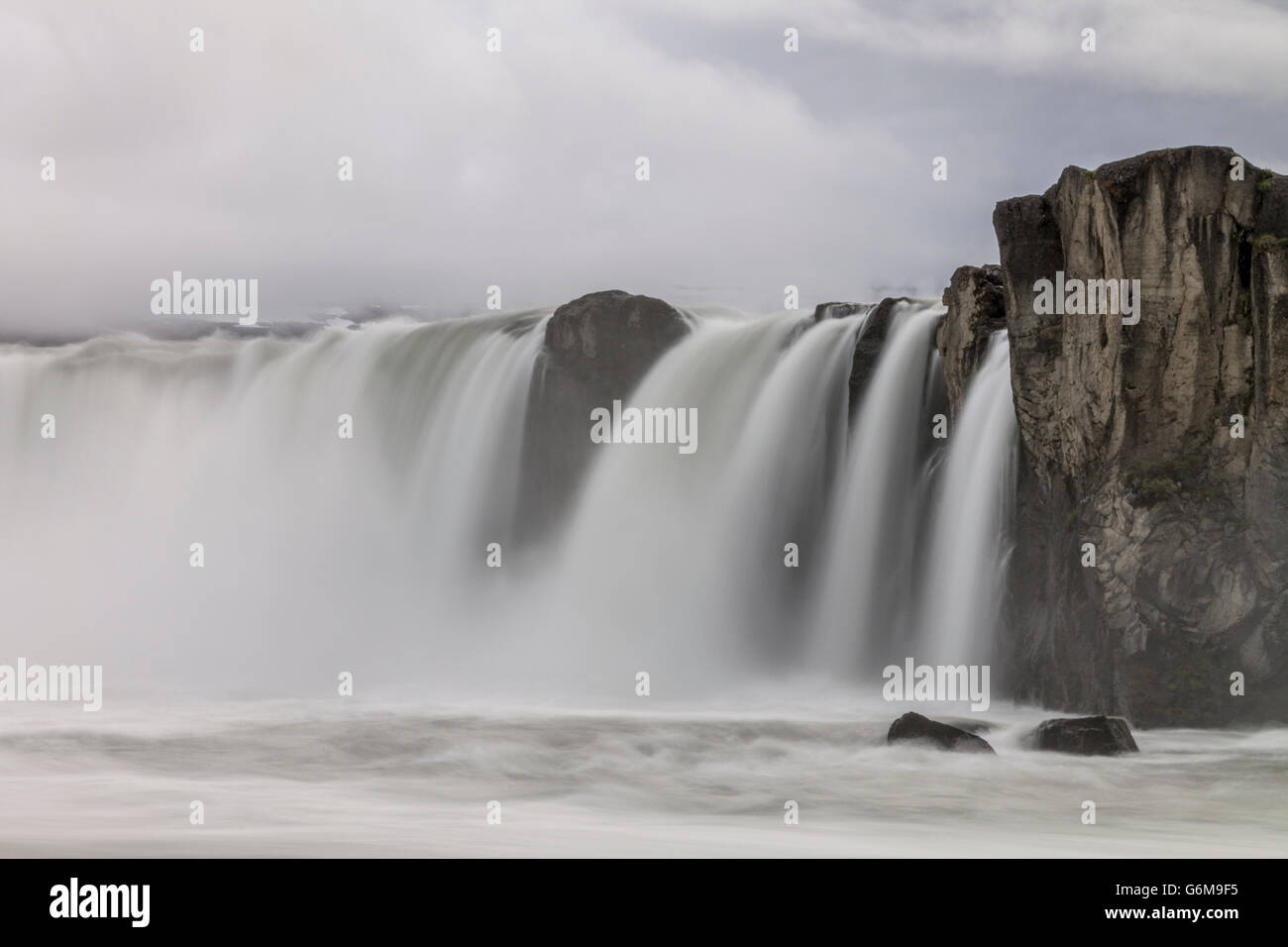 Wasserfall in Island, Waterfall Iceland, Godafoss Stock Photo