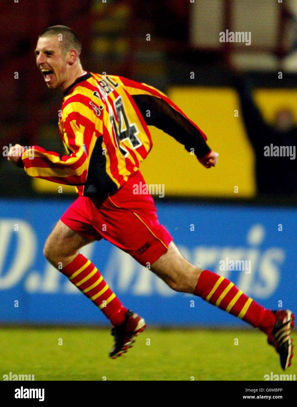 Partick Thistle v Motherwell - Stock Image