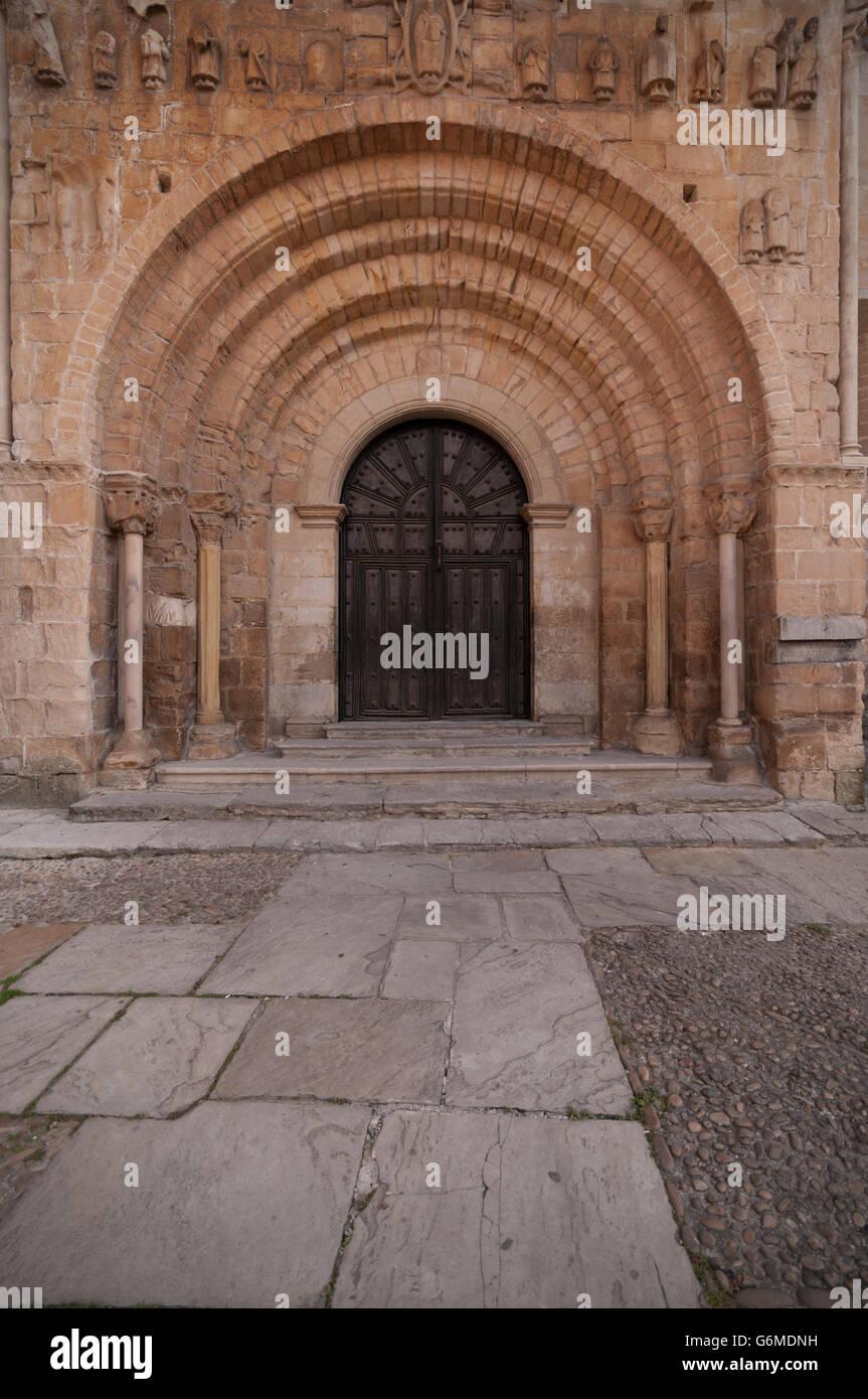Colegiata y Claustro de Santa Juliana (Collegiate Church). Santillana del Mar. Cantabria. Spain. Stock Photo