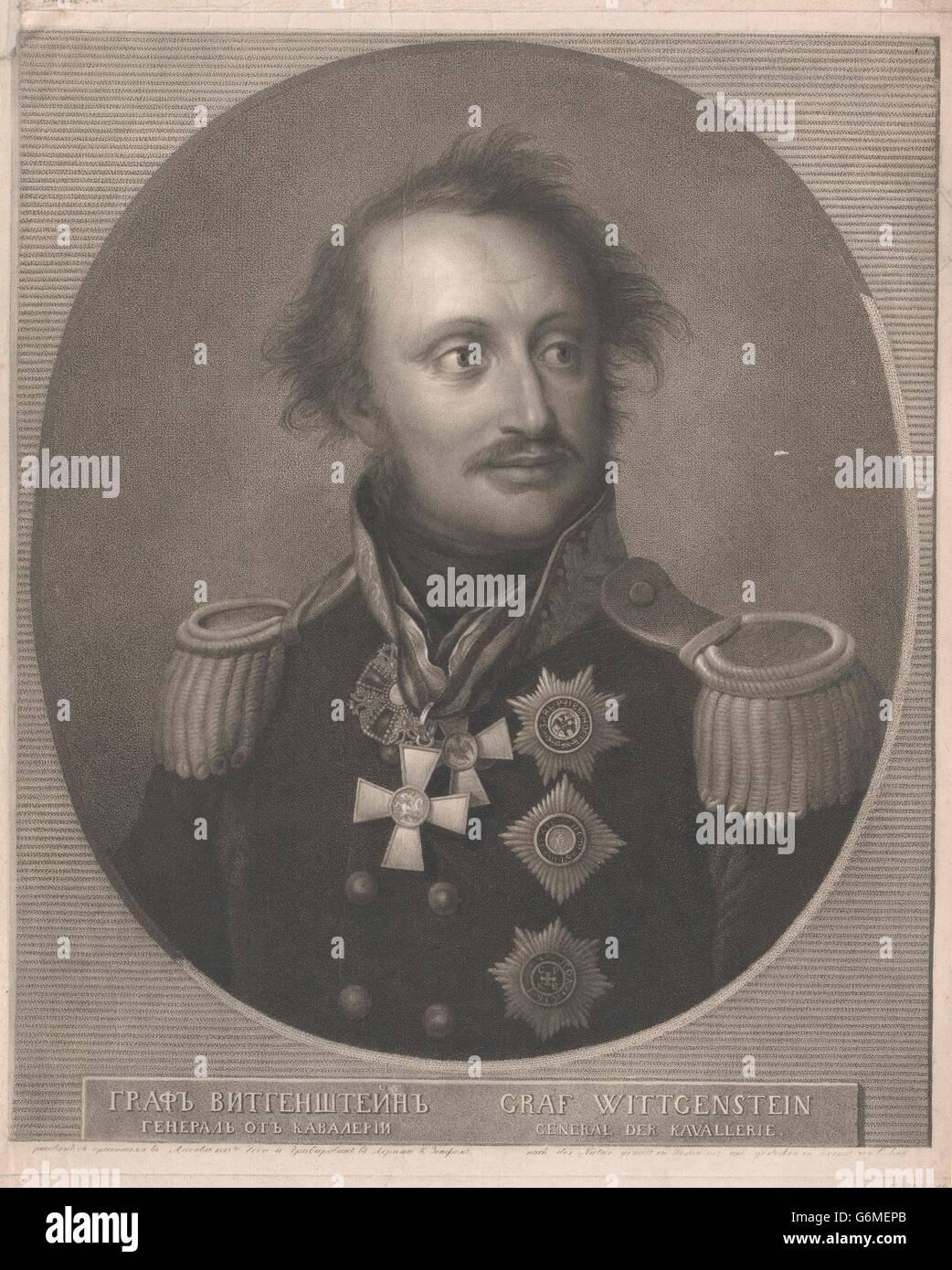 Sayn-Wittgenstein, Ludwig Adolf Peter Fürst - Stock Image