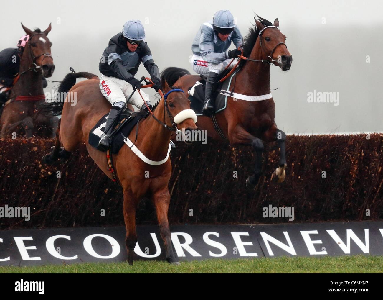 Christmas Horse Racing.Horse Racing Christmas Raceday Newbury Racecourse Stock