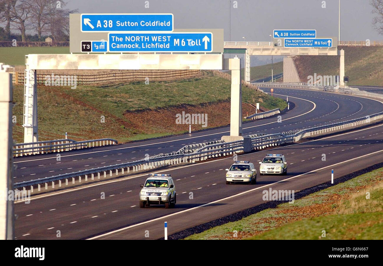 Britain's first toll motorway - Stock Image