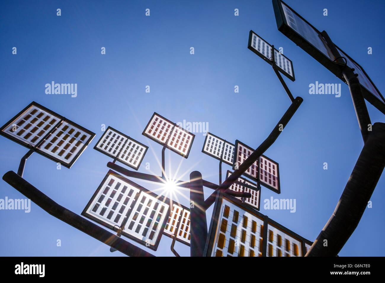 Solar Tree At Solar City Stock Photos & Solar Tree At Solar City