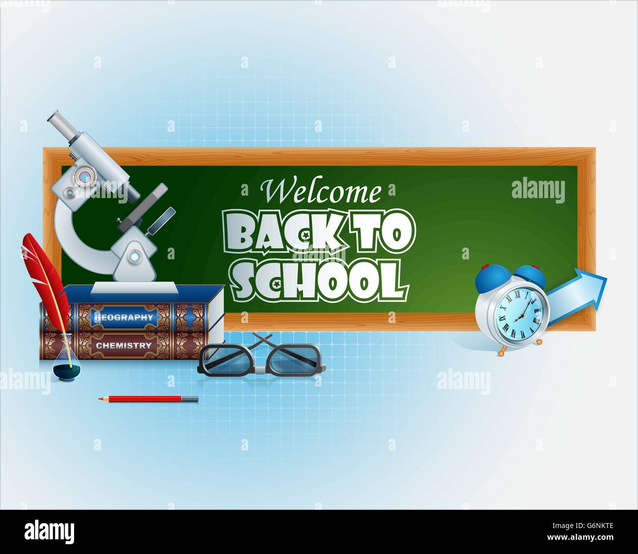 Abstract vector, design background for education with Back to school event Stock Vector