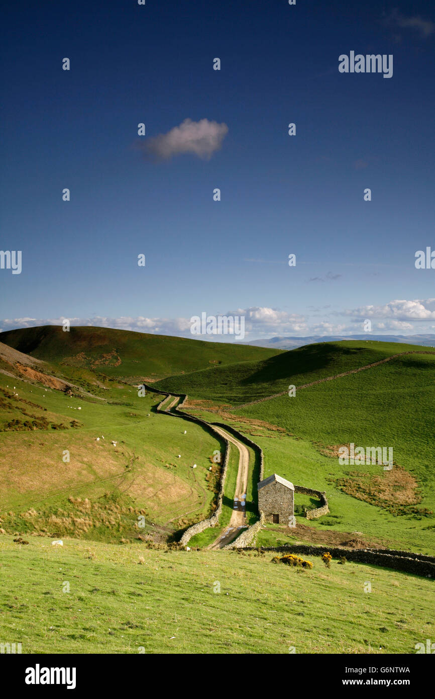 View from the Pennine Way near Dufton, Eden Valley, Cumbria, England, UK - Stock Image