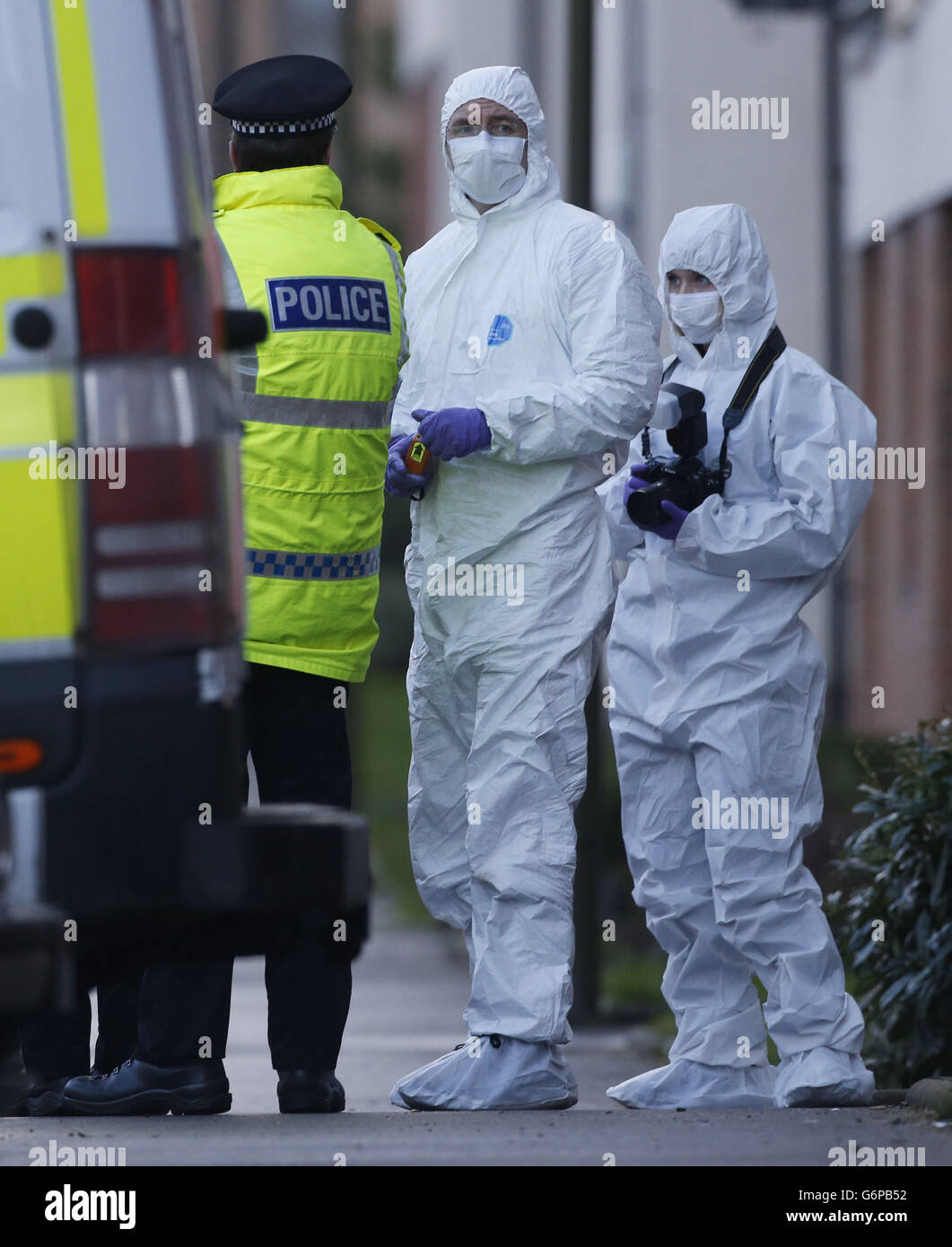 Police activity at on Ferry Gait Crescent in Edinburgh after a three-year-old boy who went missing. - Stock Image