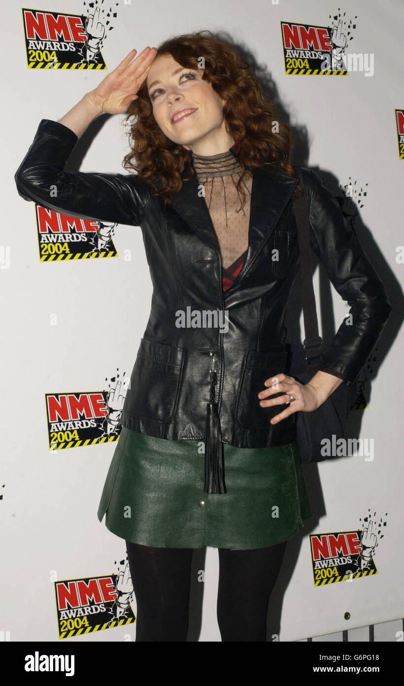 Melissa Auf Der Maur NME Awards 2004 - Stock Image