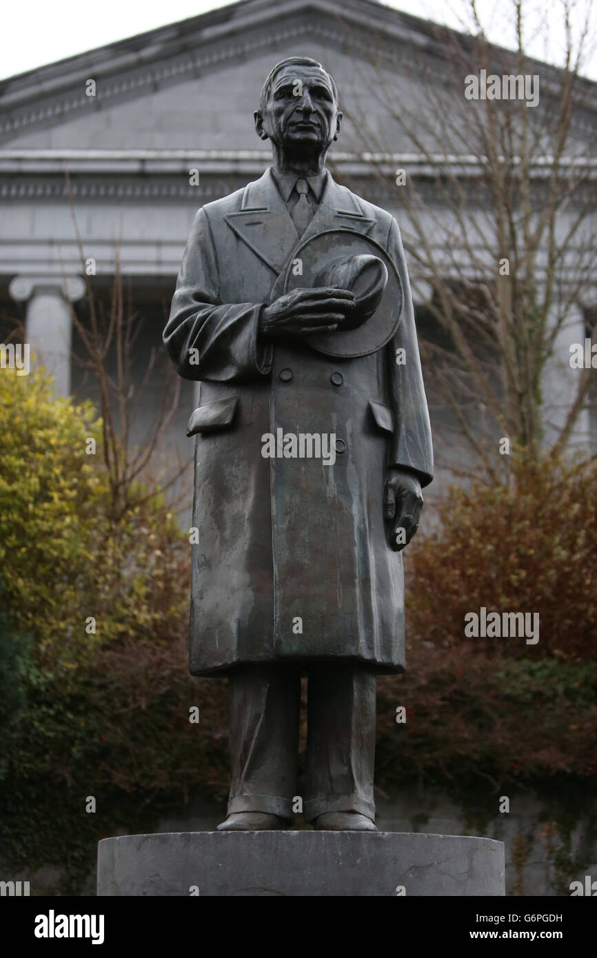 De Valera statue Stock Photo