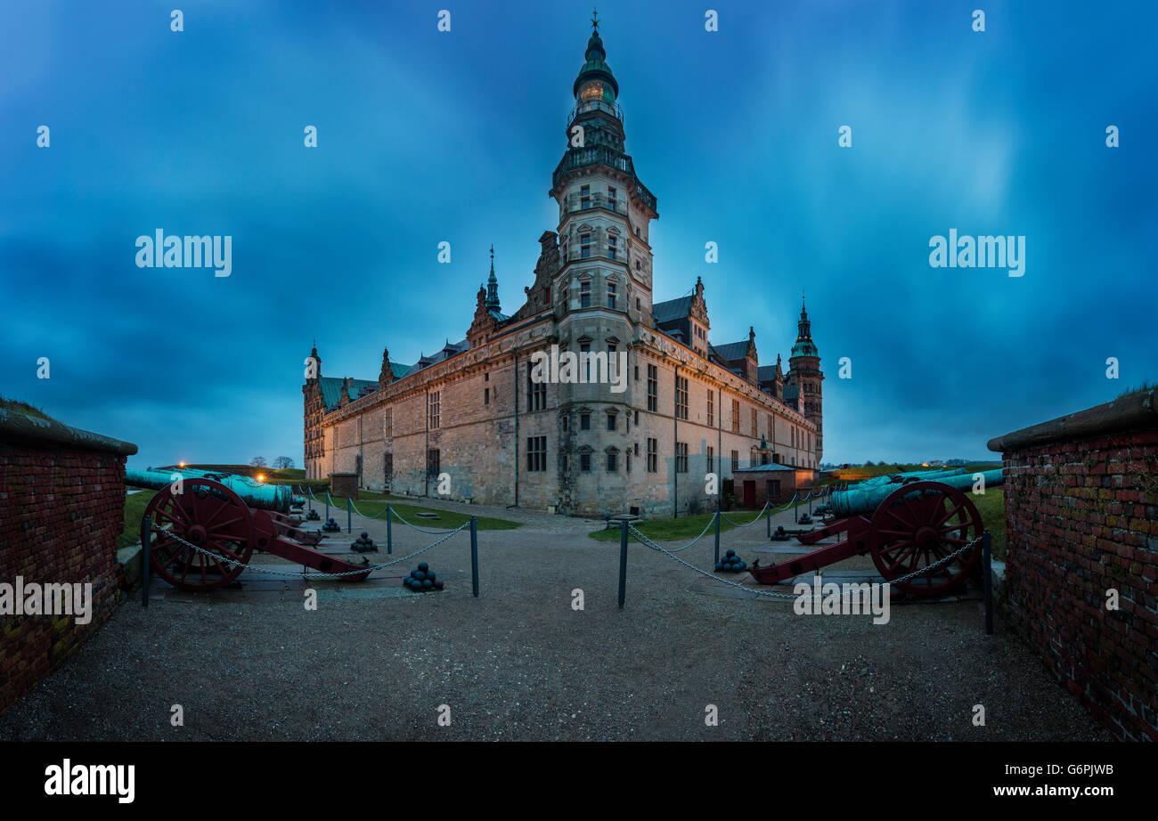 Kronborg Castle. Kronborg i located in Helsingor, Denmark Stock Photo