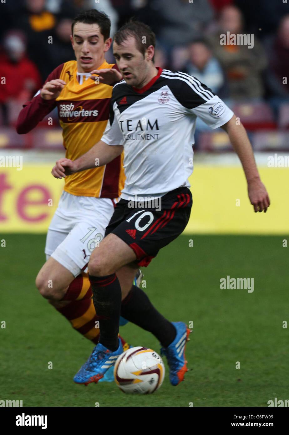 Soccer - Scottish Premiership - Motherwell v Aberdeen - Fir Park Stock Photo