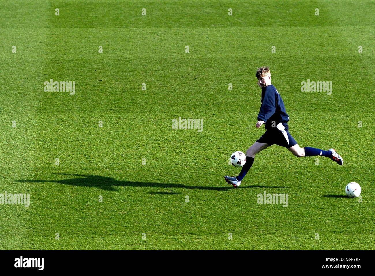 Scotland training session - Stock Image