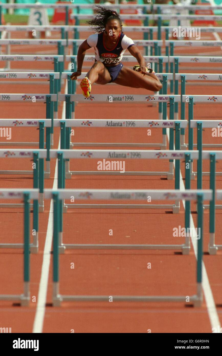 Athletics - Atlanta Olympic Games 1996 - Women's 100m - Stock Image