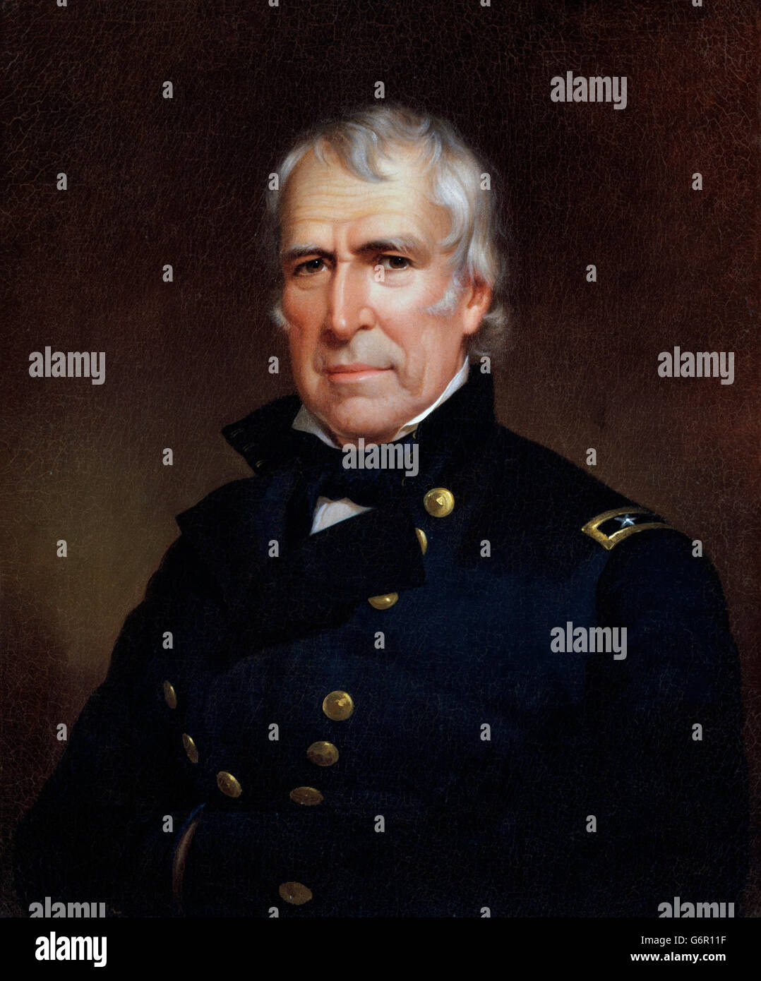 Zachary Taylor. Portrait of the 12th US President Zachary Taylor (1784-1850) by James Reid Lambdin, 1848 - Stock Image