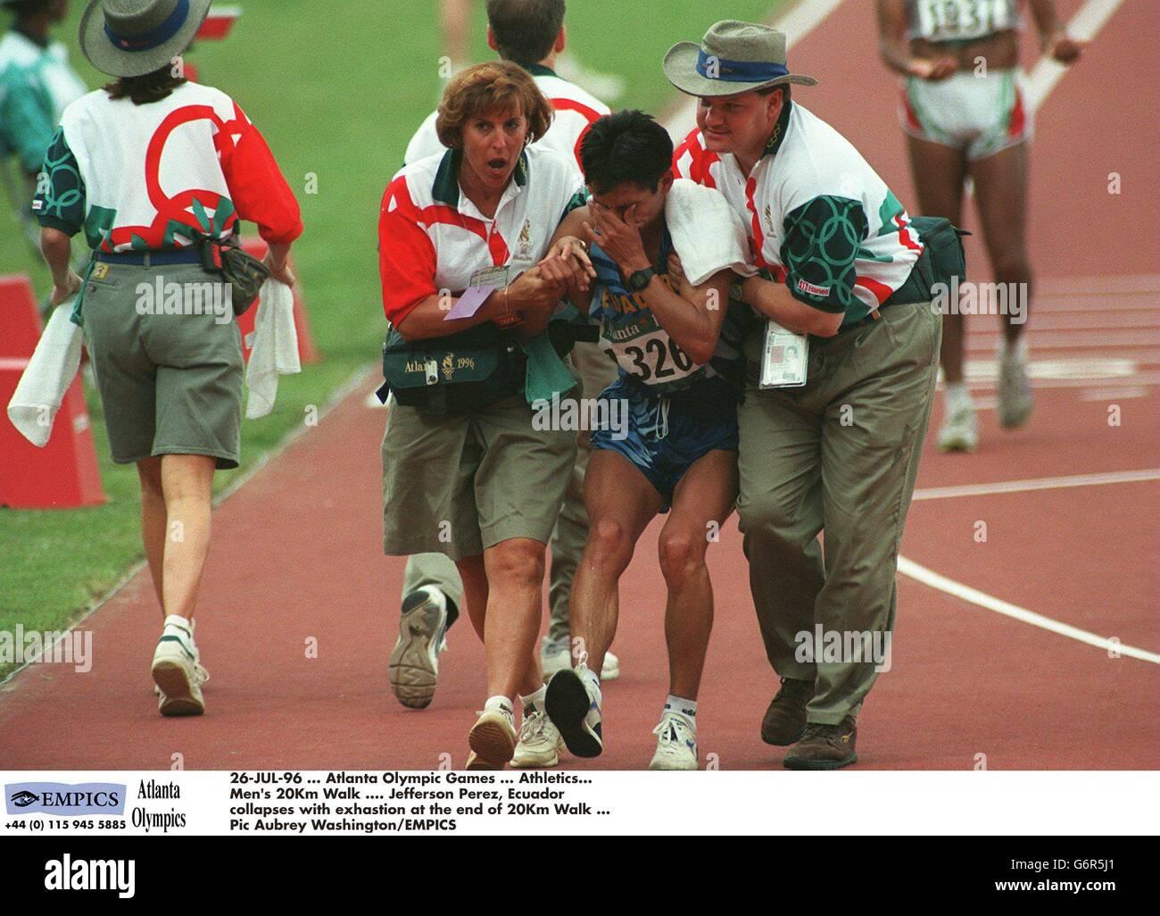 a4a9837758a68 26 Jul 96 Atlanta Olympic Games Athletics Mens 20km Walk Jefferson Perez  Stock Photos and Images