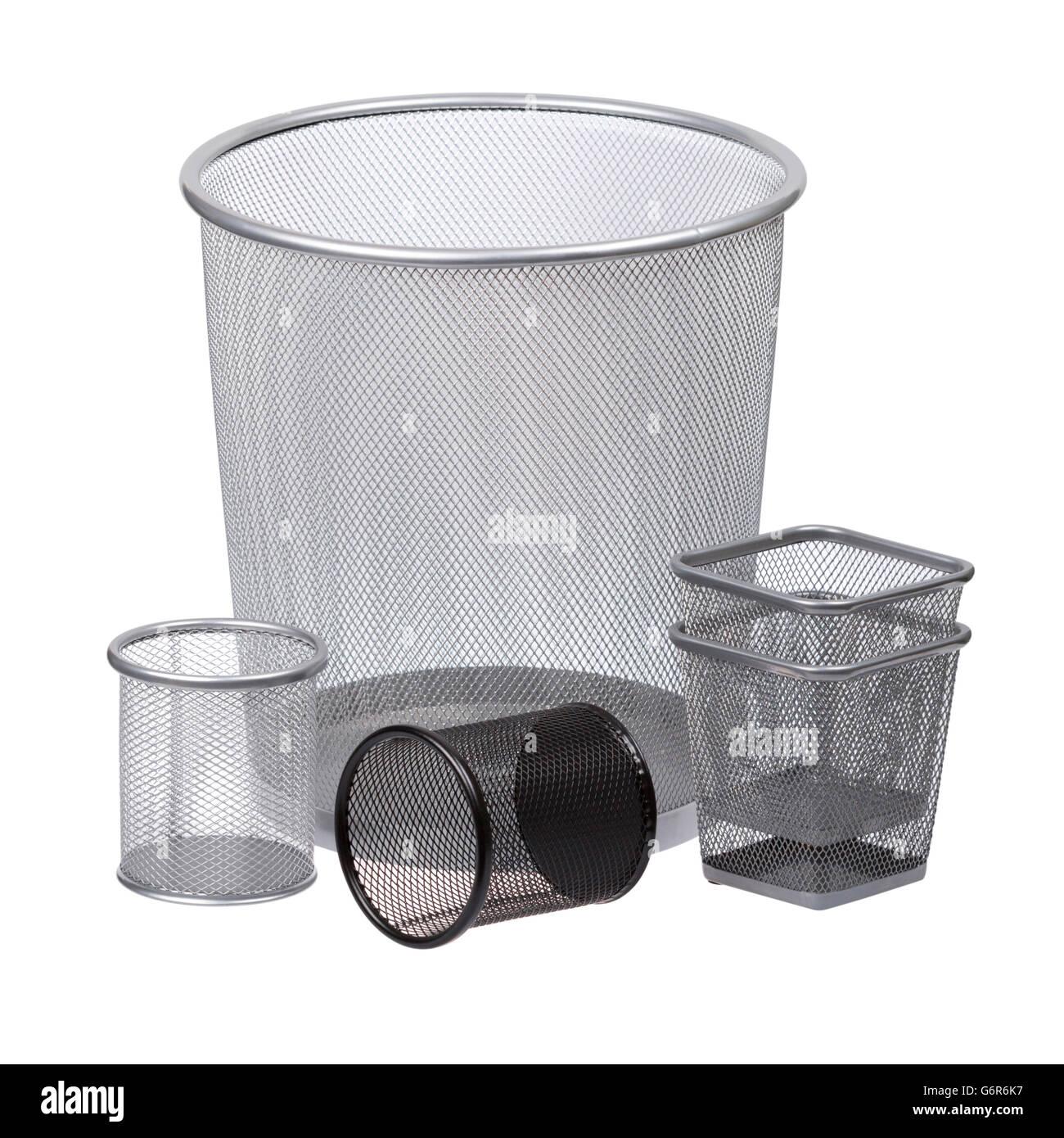 Multiple trash bins - Stock Image