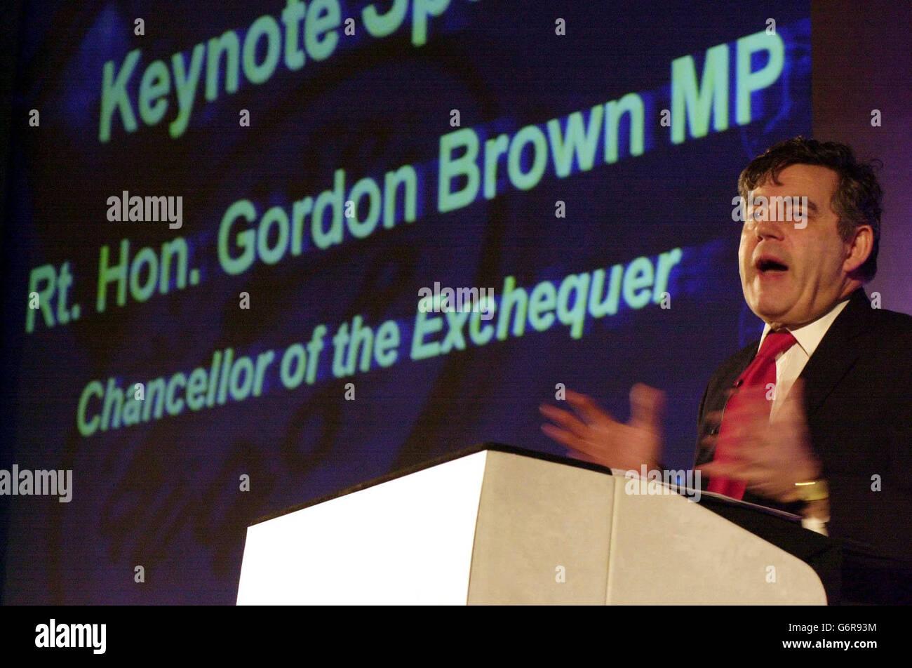 Gordon Brown Keynote Speech - Stock Image