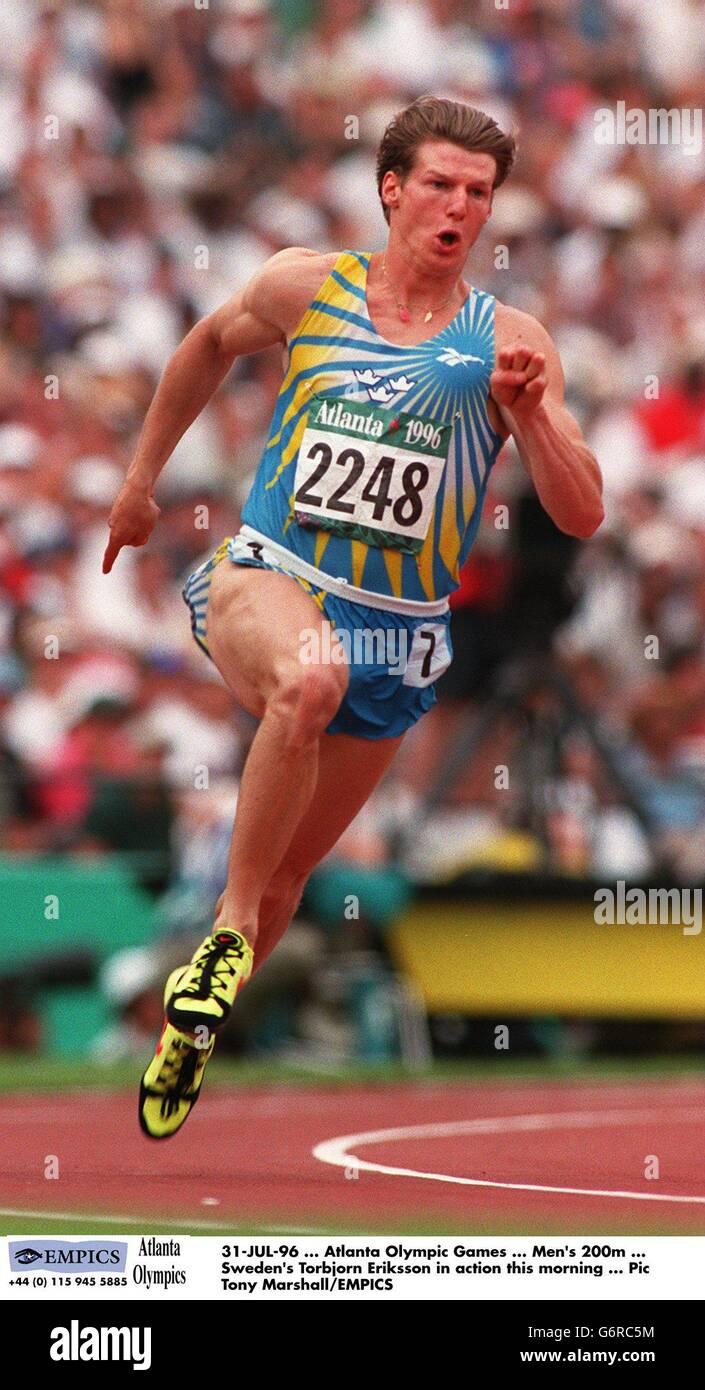 Atlanta Olympic Games ... Men's 200m - Stock Image