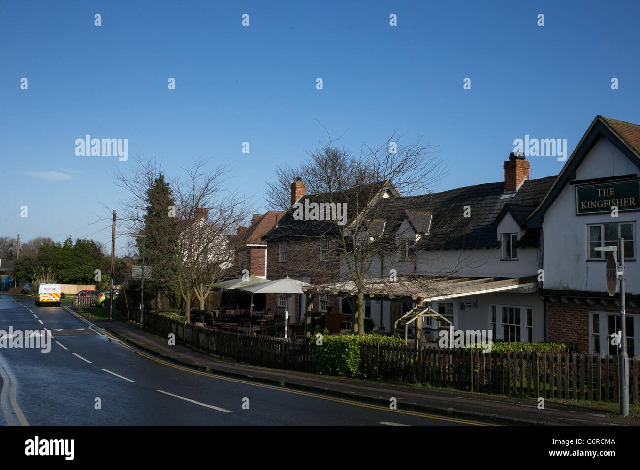 Properties evacuated over sickness - Stock Image