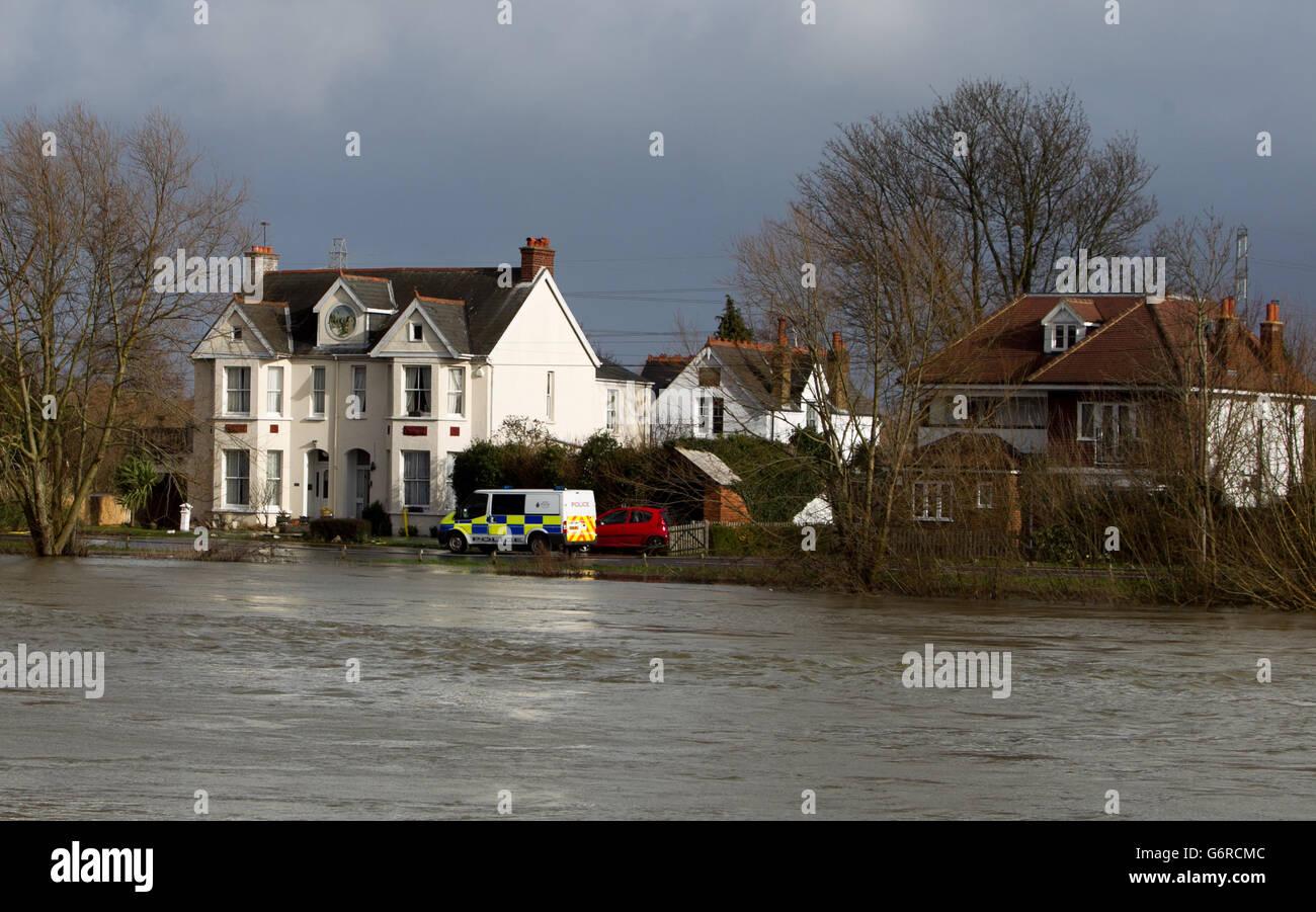 Properties evacuated over sickness - Stock Image