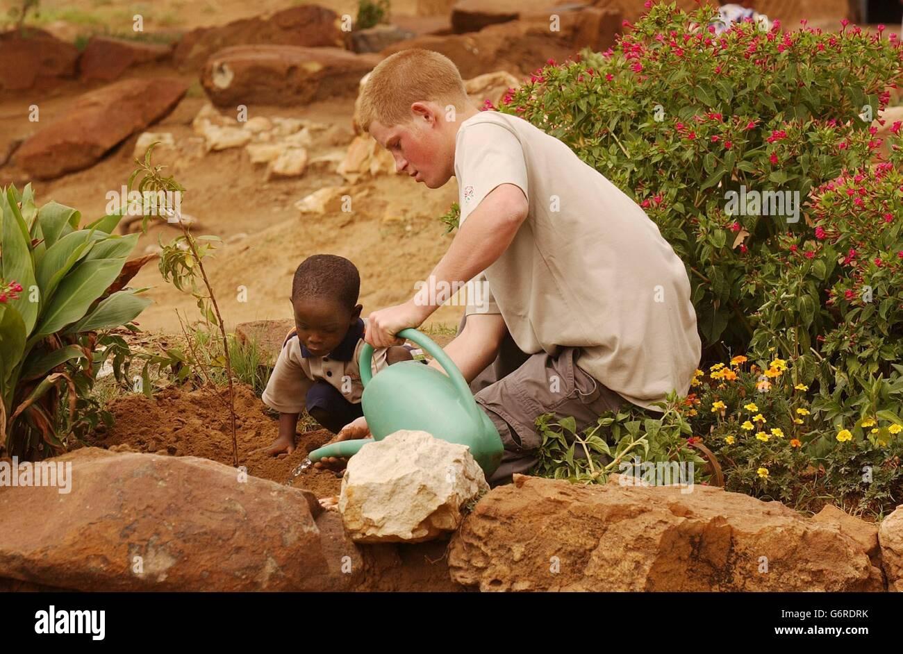 Prince Harry in Maseru, Lesotho - Stock Image