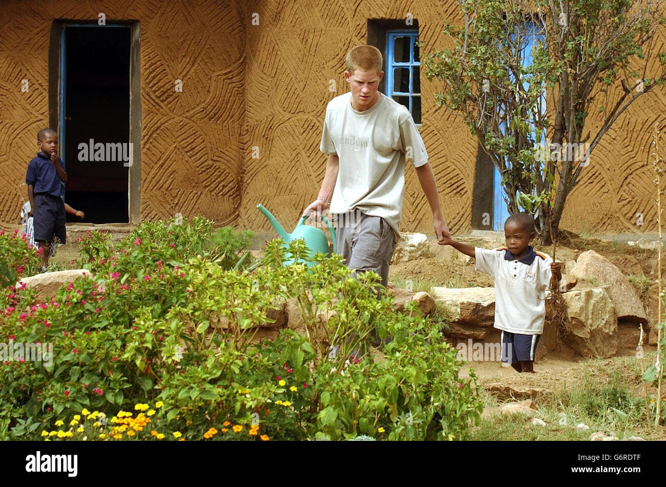 Prince Harry in Lesotho - Stock Image
