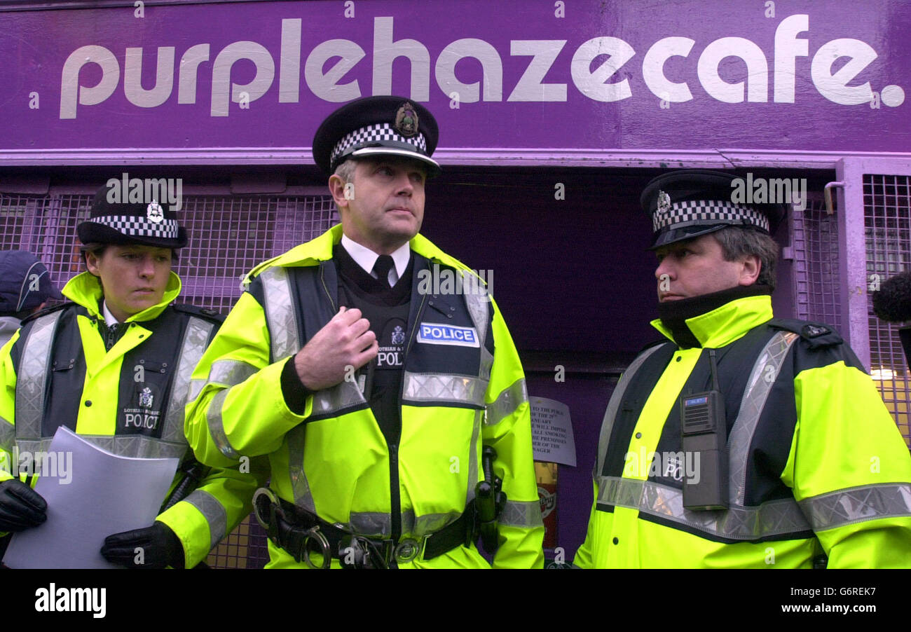 Tommy Sheridan at the Purple Haze Cafe - Stock Image
