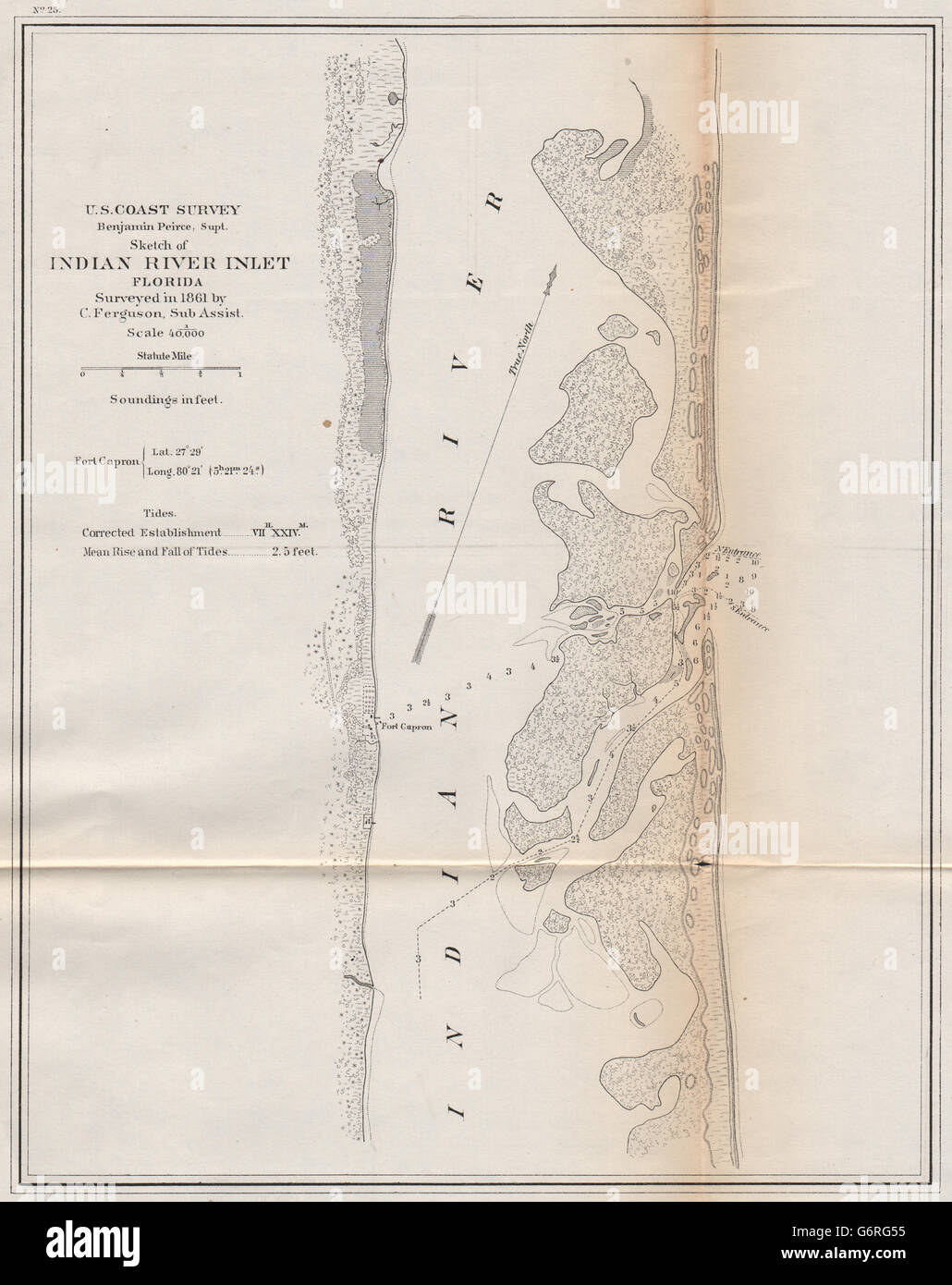Map Of East Coast Florida.Florida East Coast Chart Indian River Fort Capron Fort Pierce
