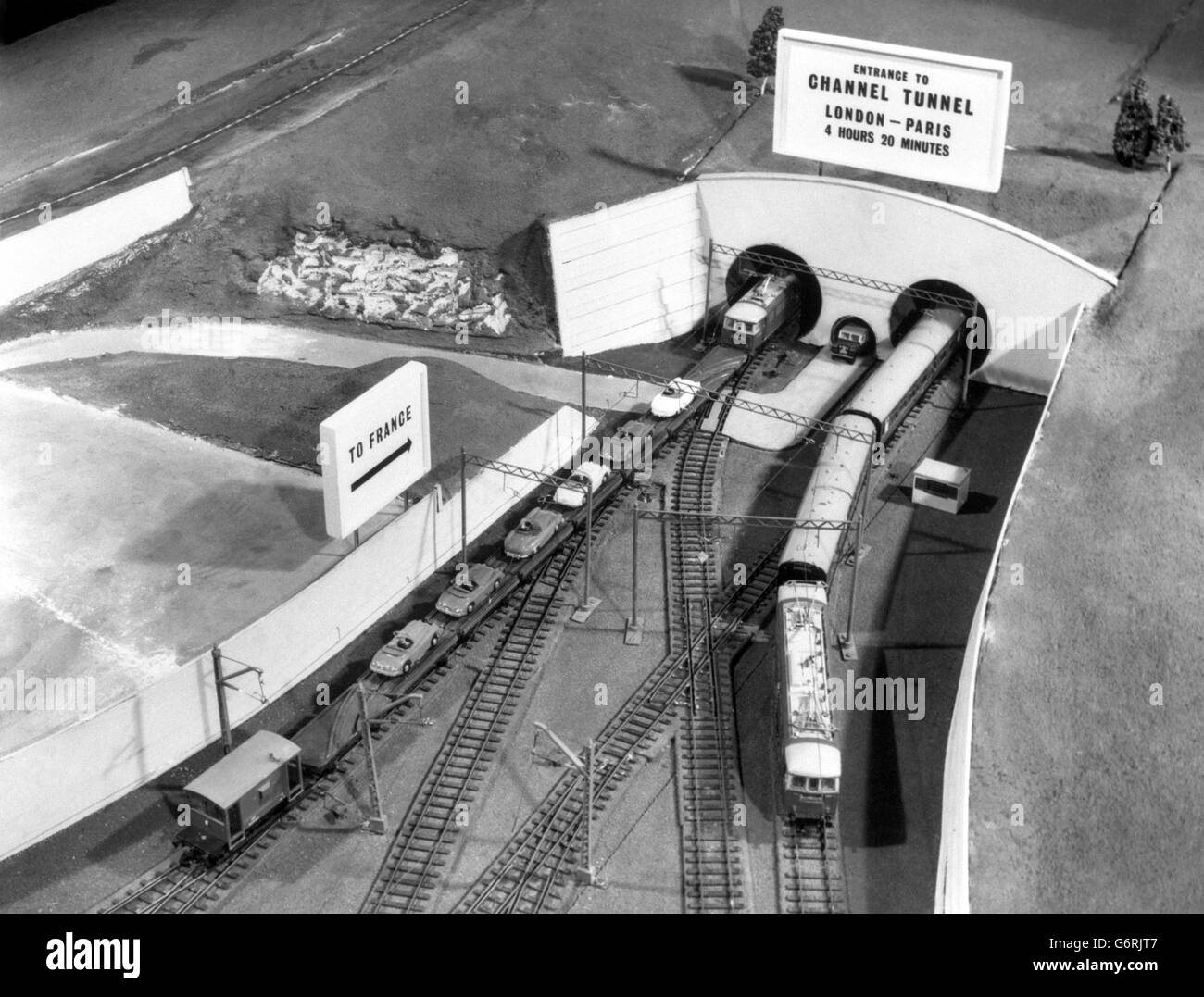 Channel Tunnel - Working Model - 1962 - Stock Image