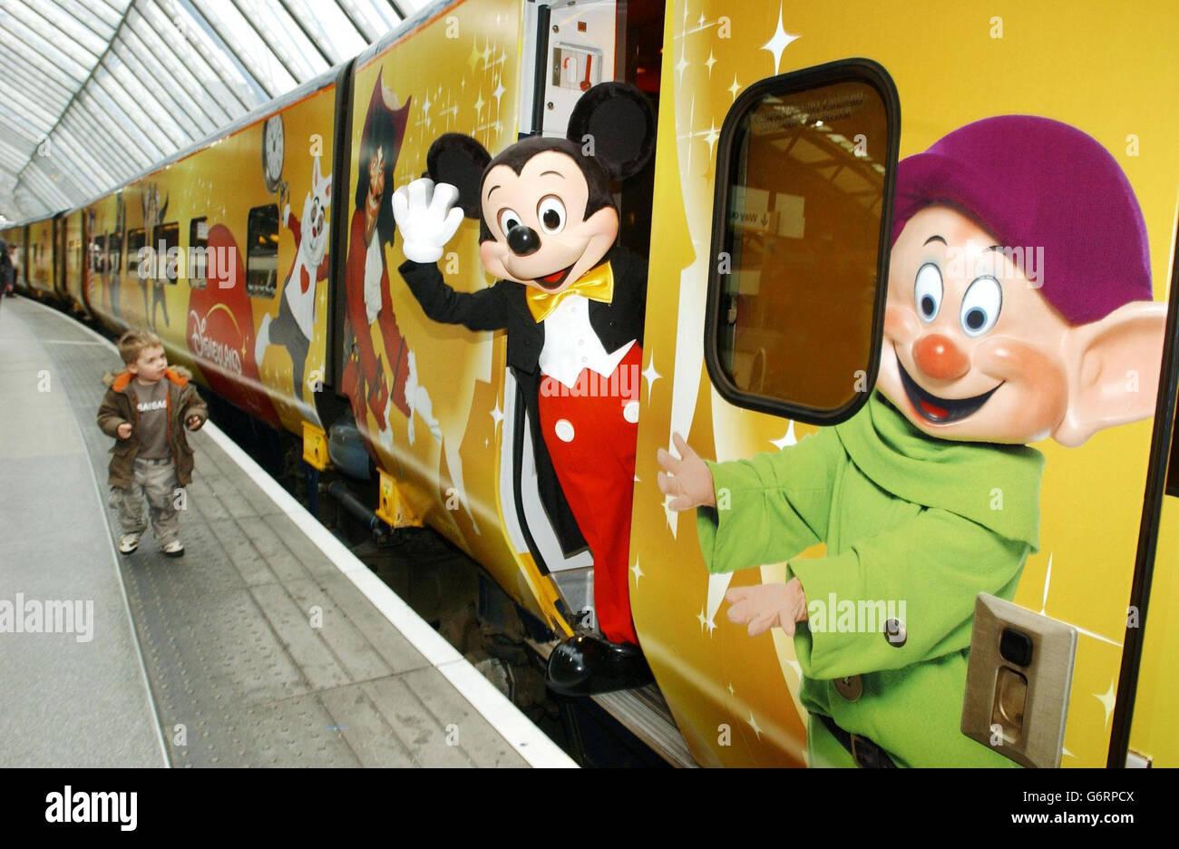 Disney Eurostar train Stock Photo