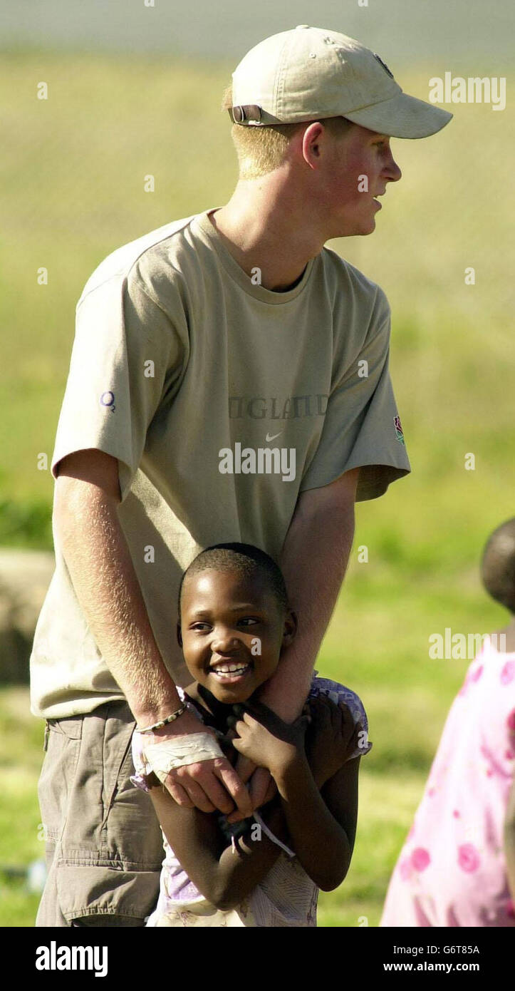 Prince Harry at the Mants'ase Children's Home - Stock Image