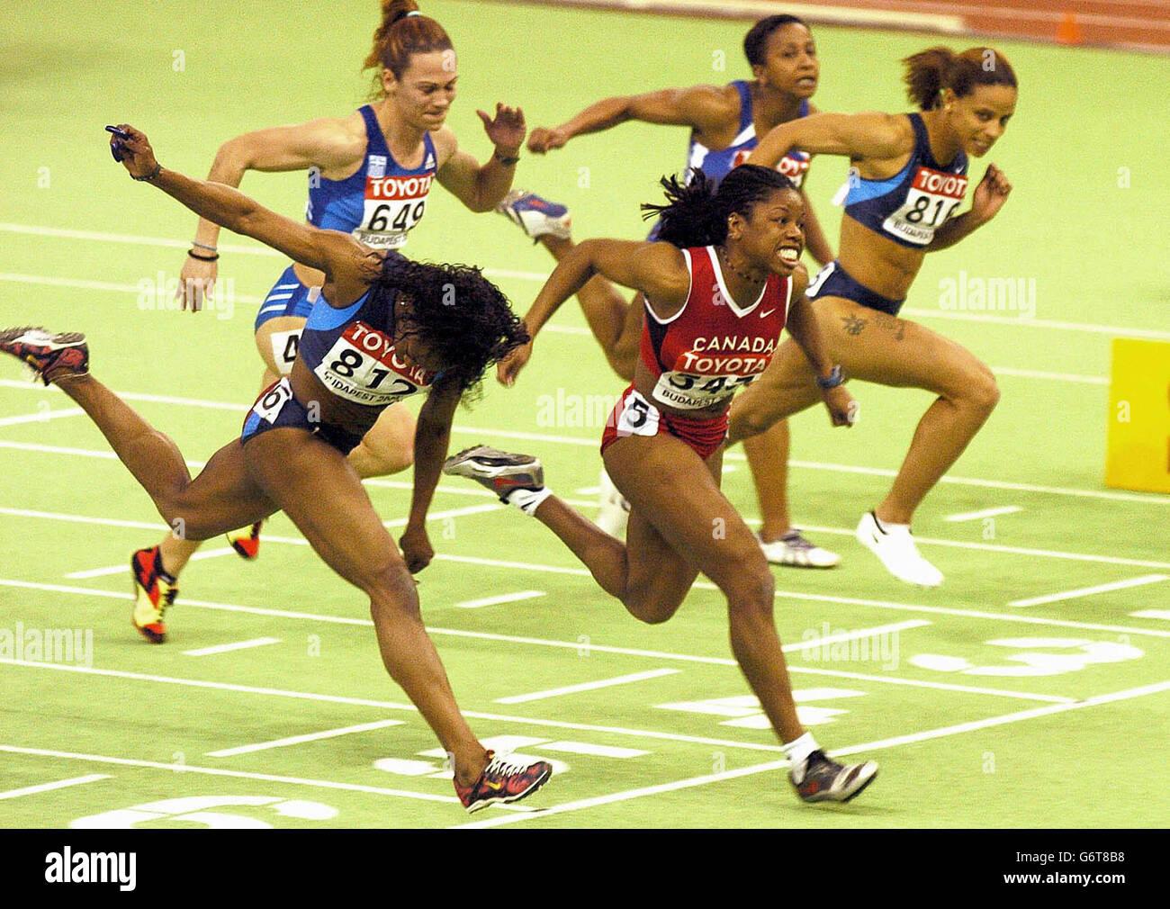 Gail Devers 60m Hurdles Final - Stock Image