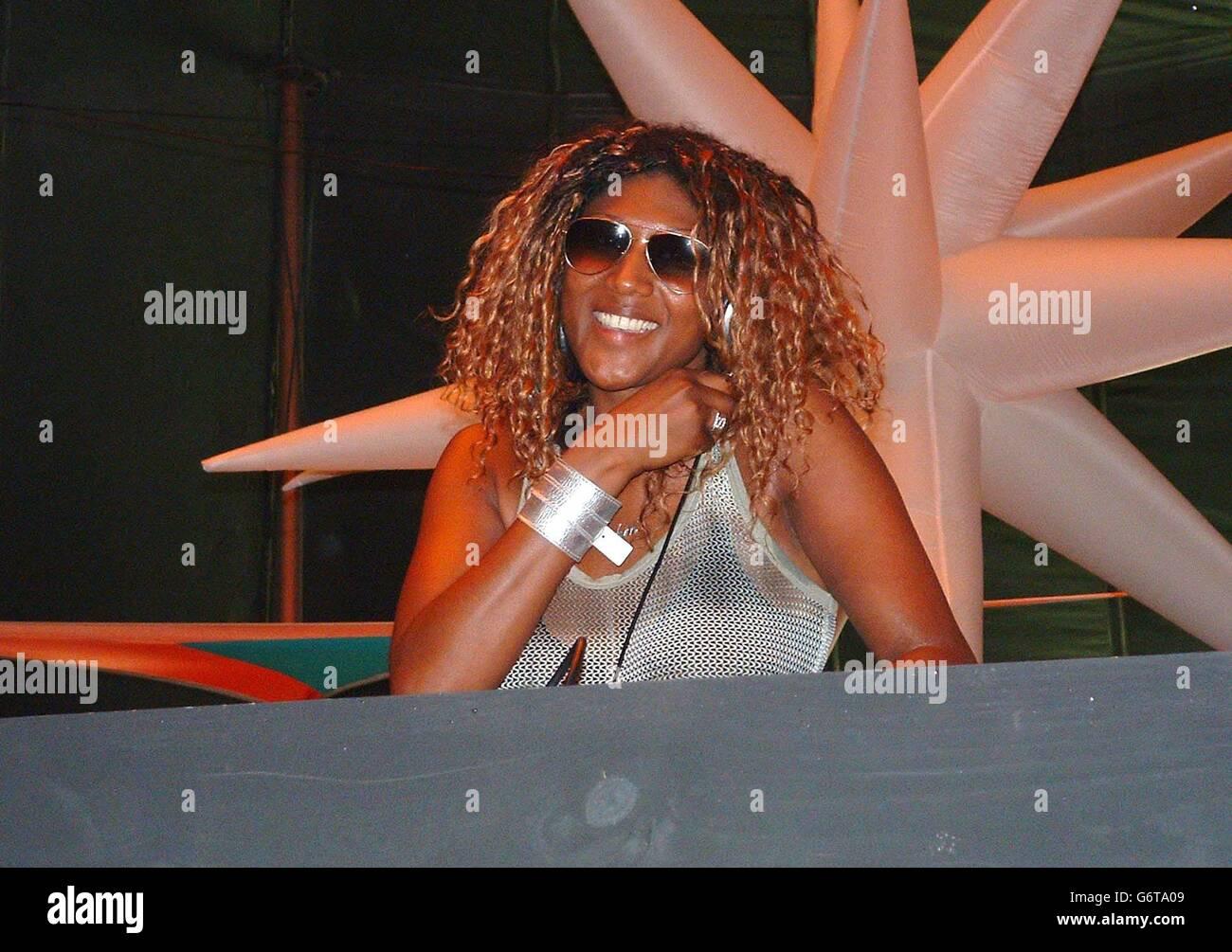 DJ Smokin Jo at Ultra Music Festival - Stock Image