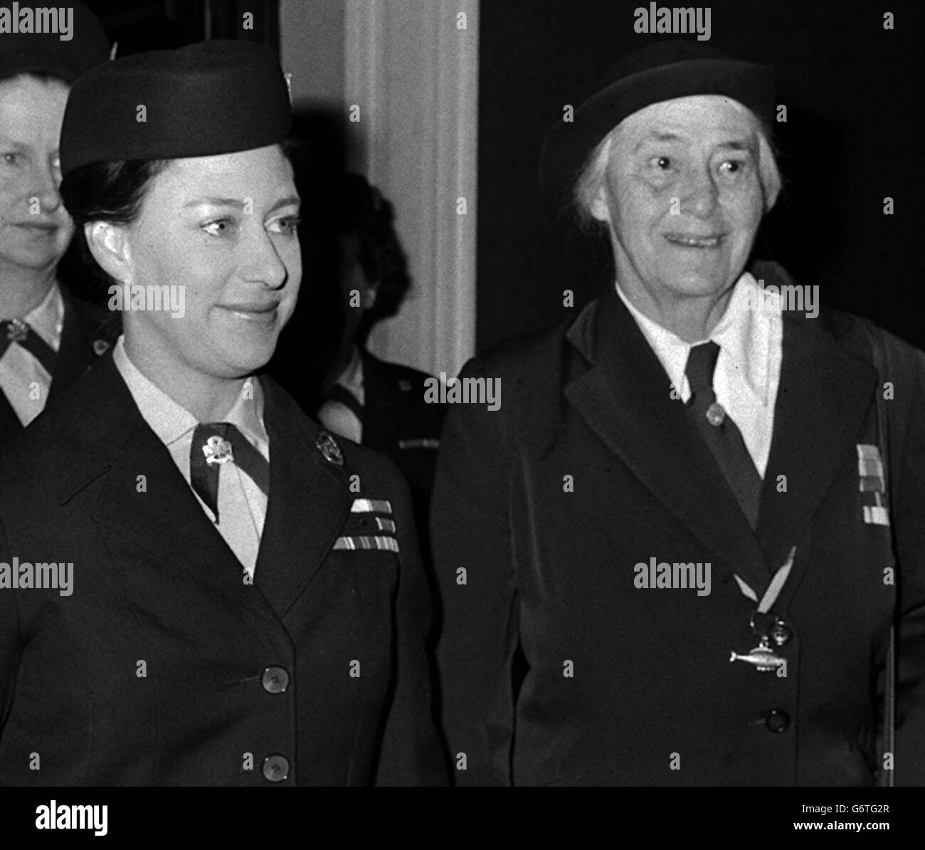 Princess Margaret and Lady Baden-Powell - Stock Image
