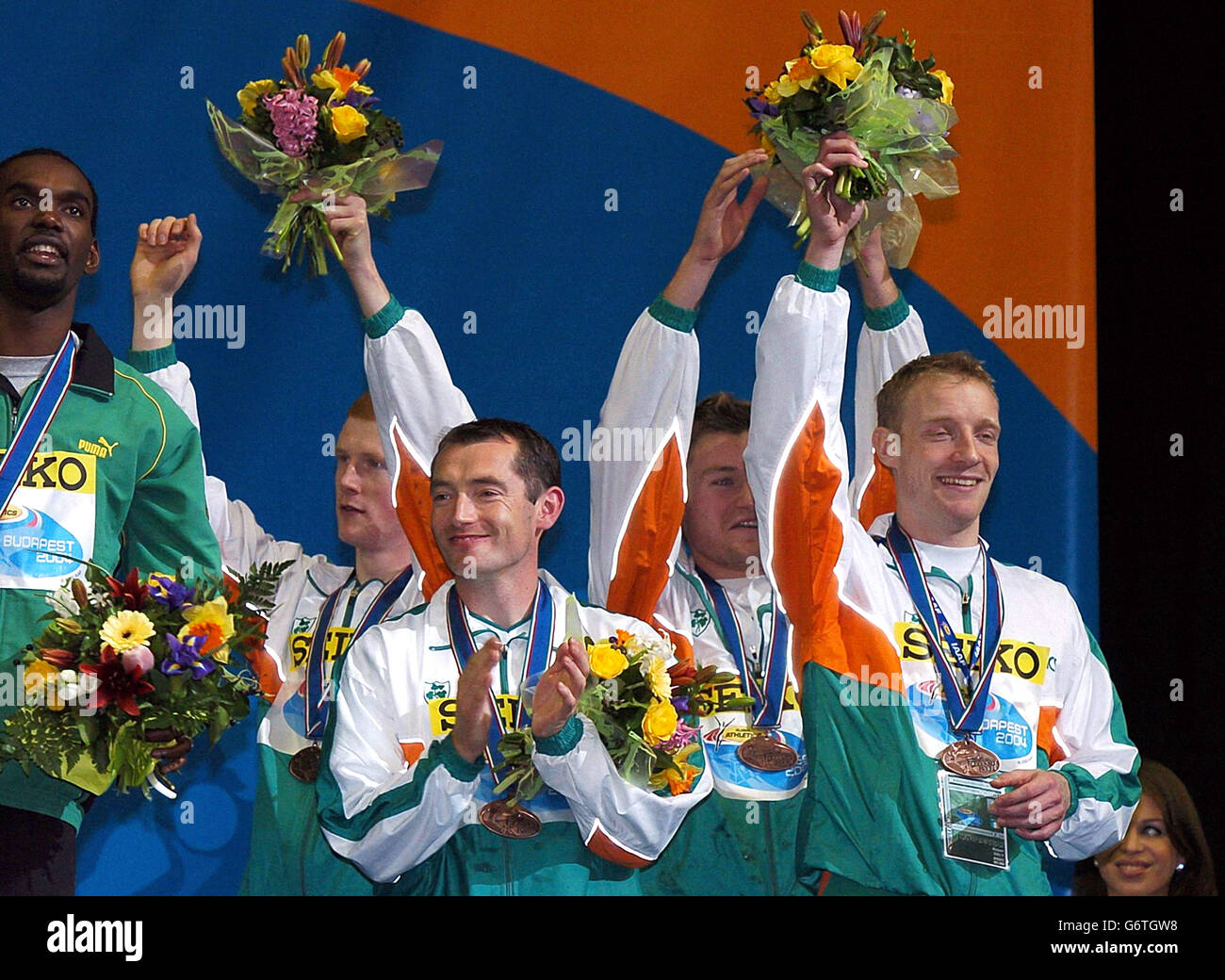 The Ireland Relay team World Indoor Championships - Stock Image