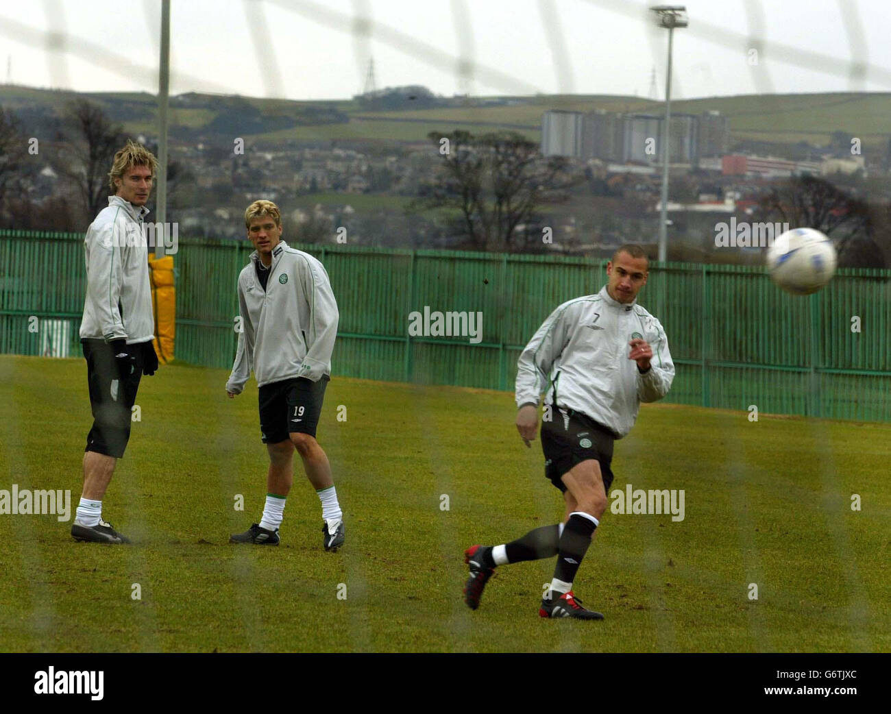 Celtic Training - Stock Image
