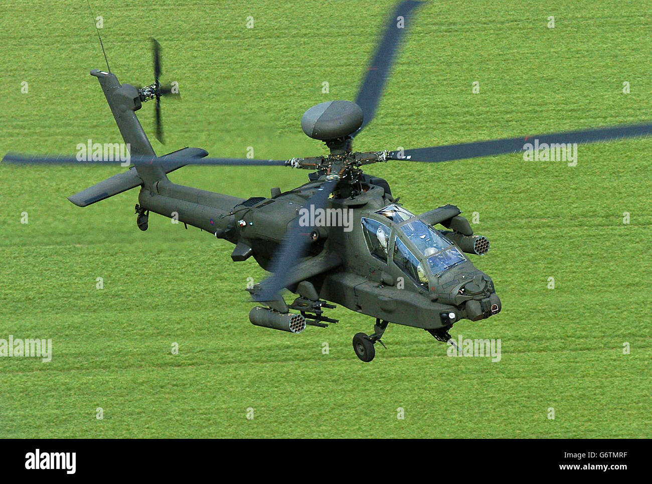 Aviation - Apache AH Mk1 Helicopters - Dishforth Airfield - Stock Image