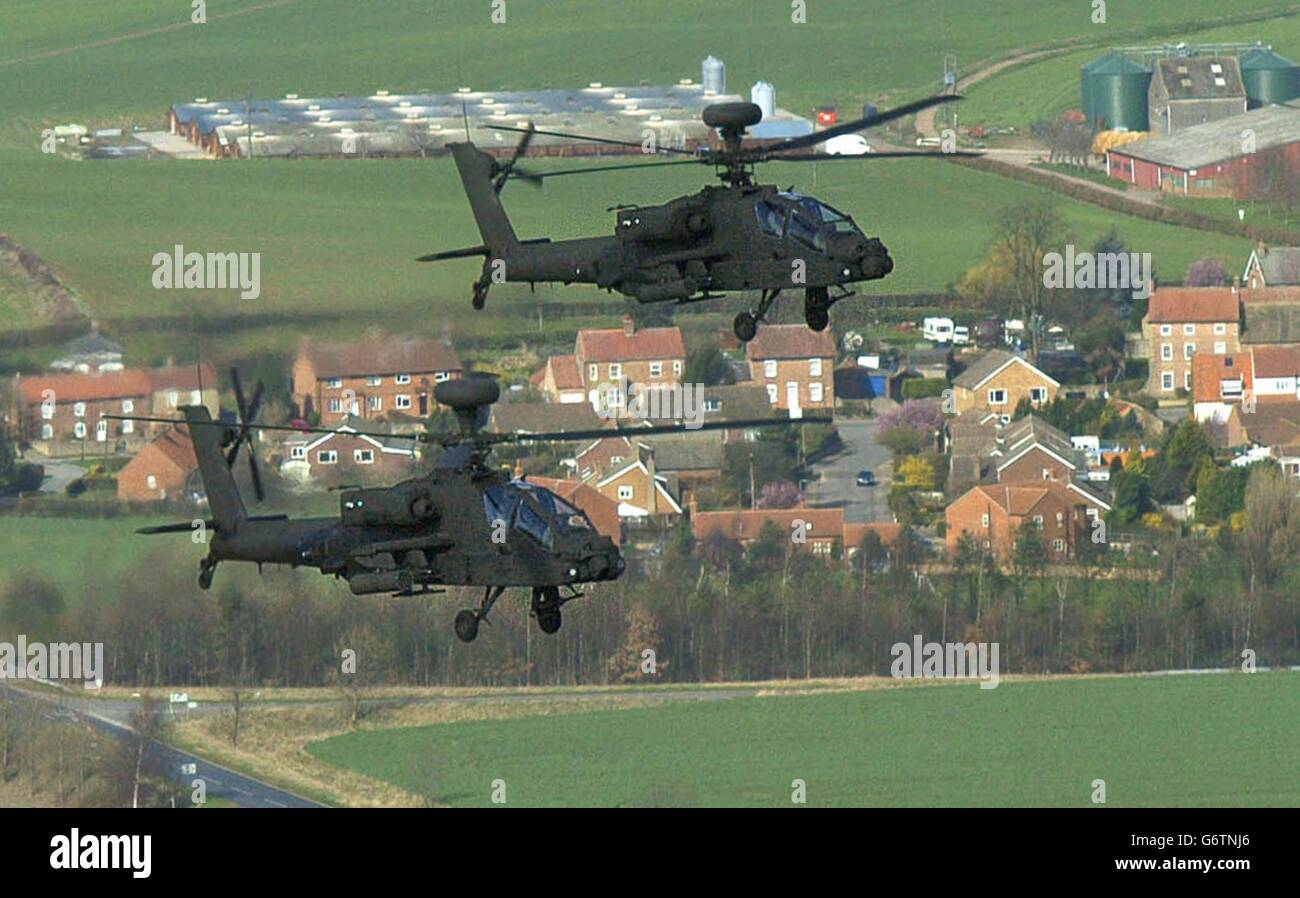 Apache AH Mk1 helicopters - Stock Image