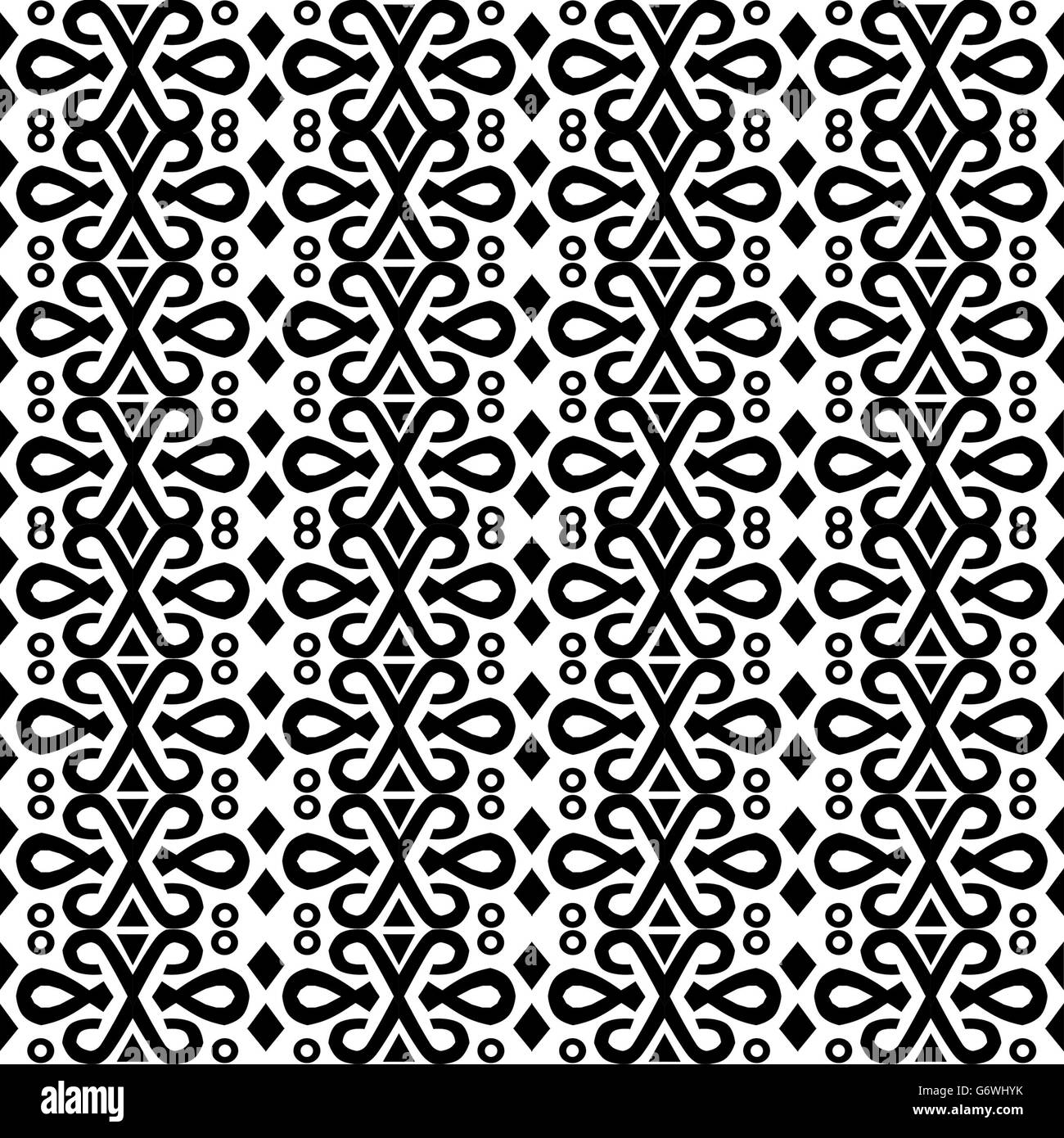 Most common pattern found on clothing and home furnishings in Borneo - Stock Image