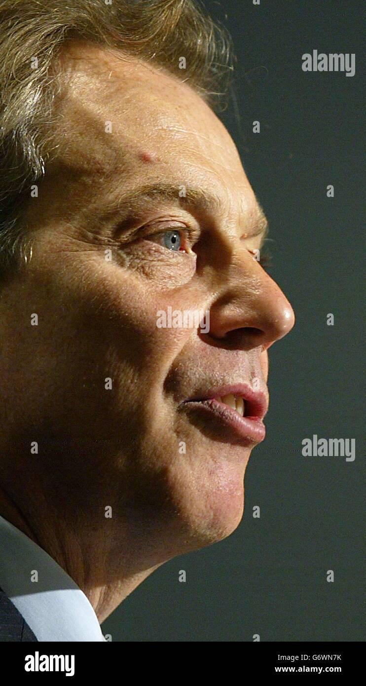 Tony Blair at the EBRD annual meeting Stock Photo