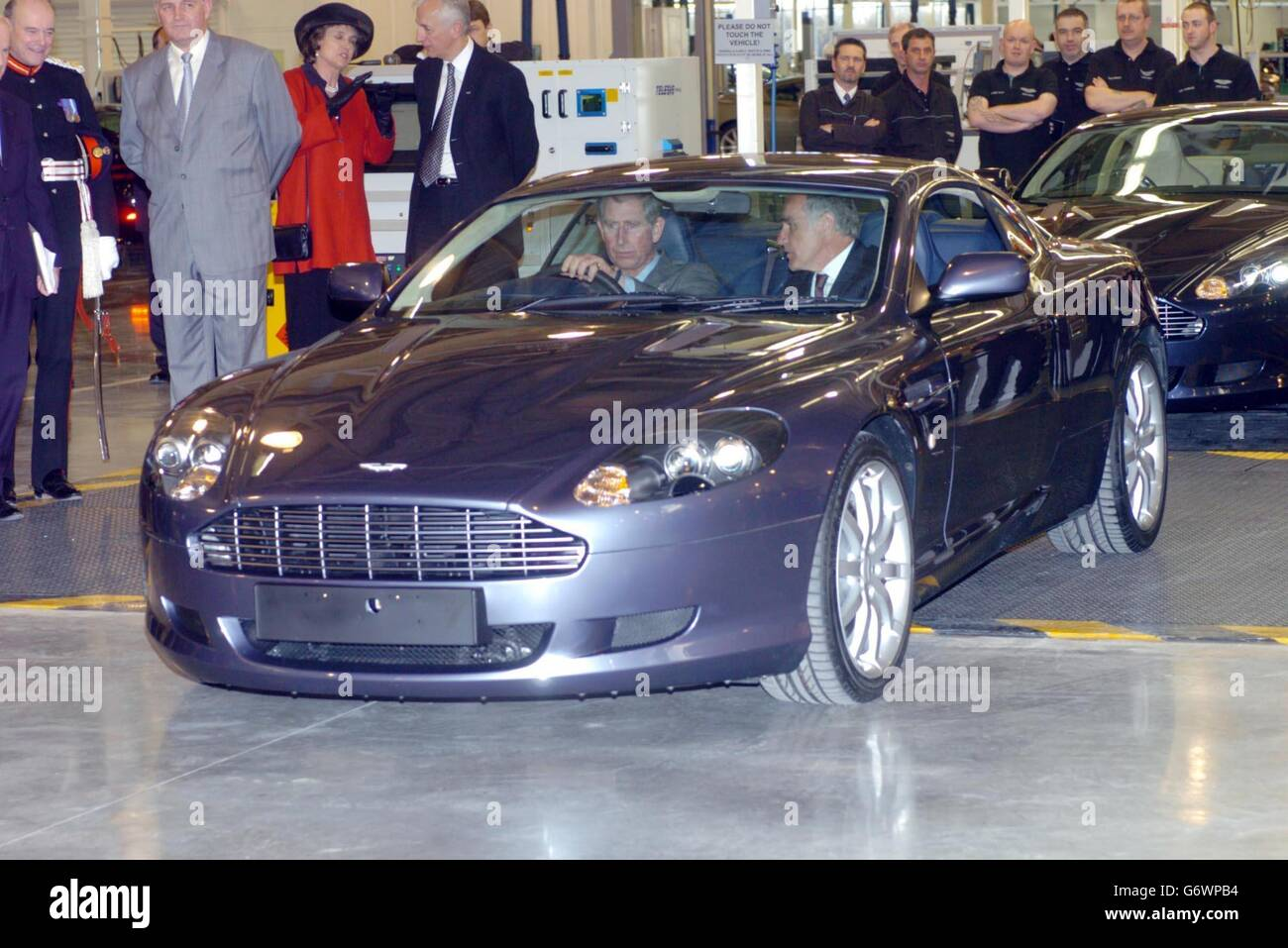 Aston Martin Stock >> The Prince Of Wales Drives A New Aston Martin Stock Photo