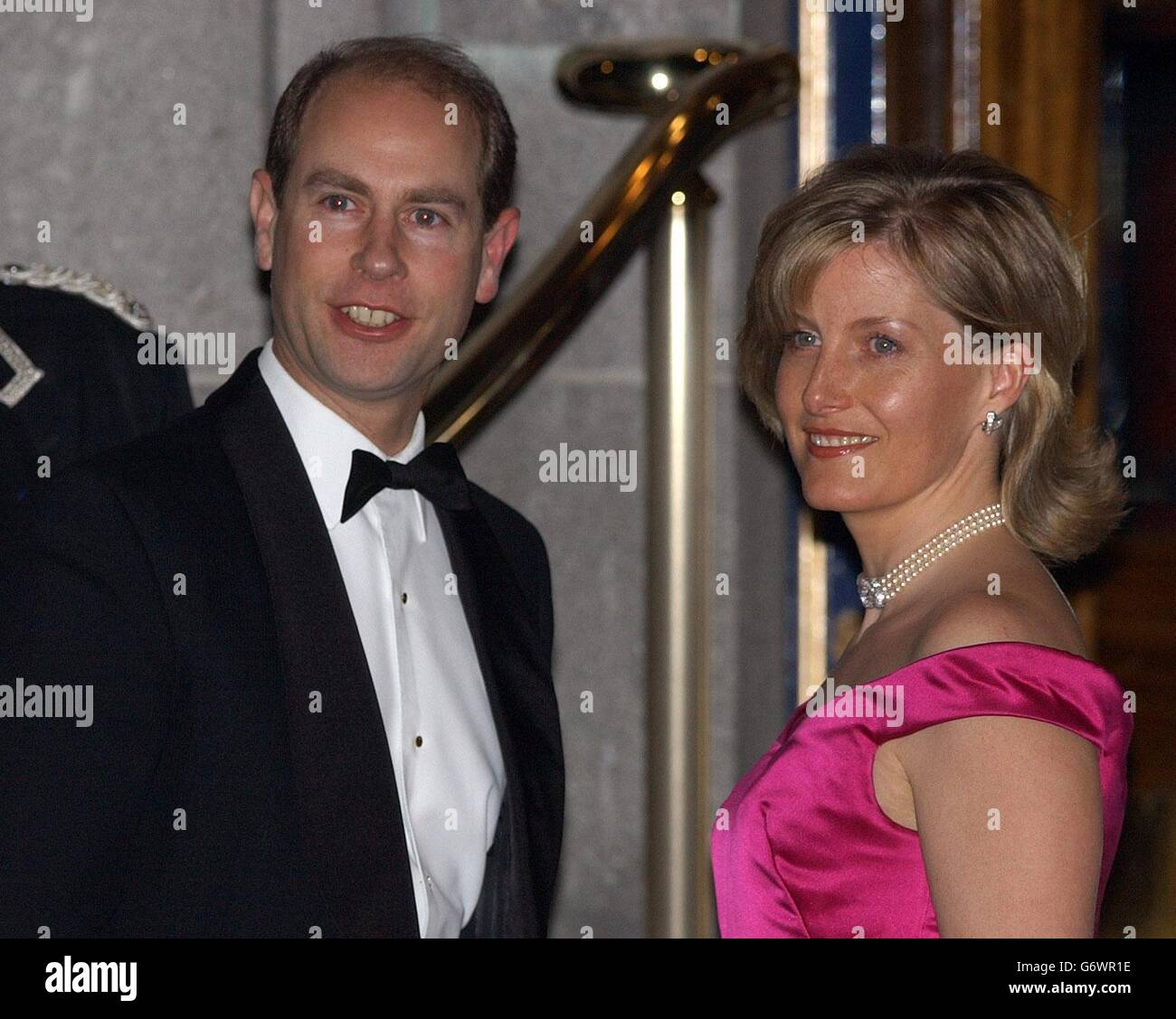 The Earl and Countess of Wessex arrives at the Ritz Hotel - Stock Image