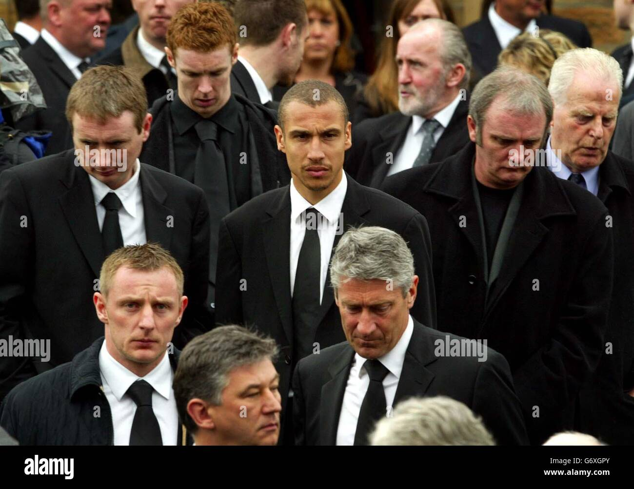 Funeral of Ronnie Simpson - Stock Image