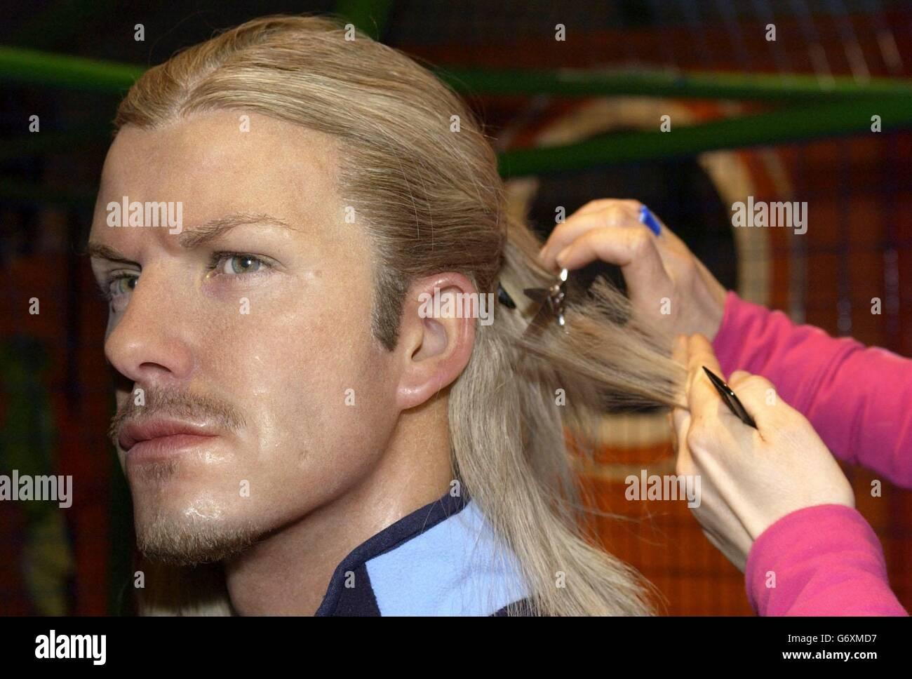 David Beckham Haircut Stock Photos David Beckham Haircut Stock