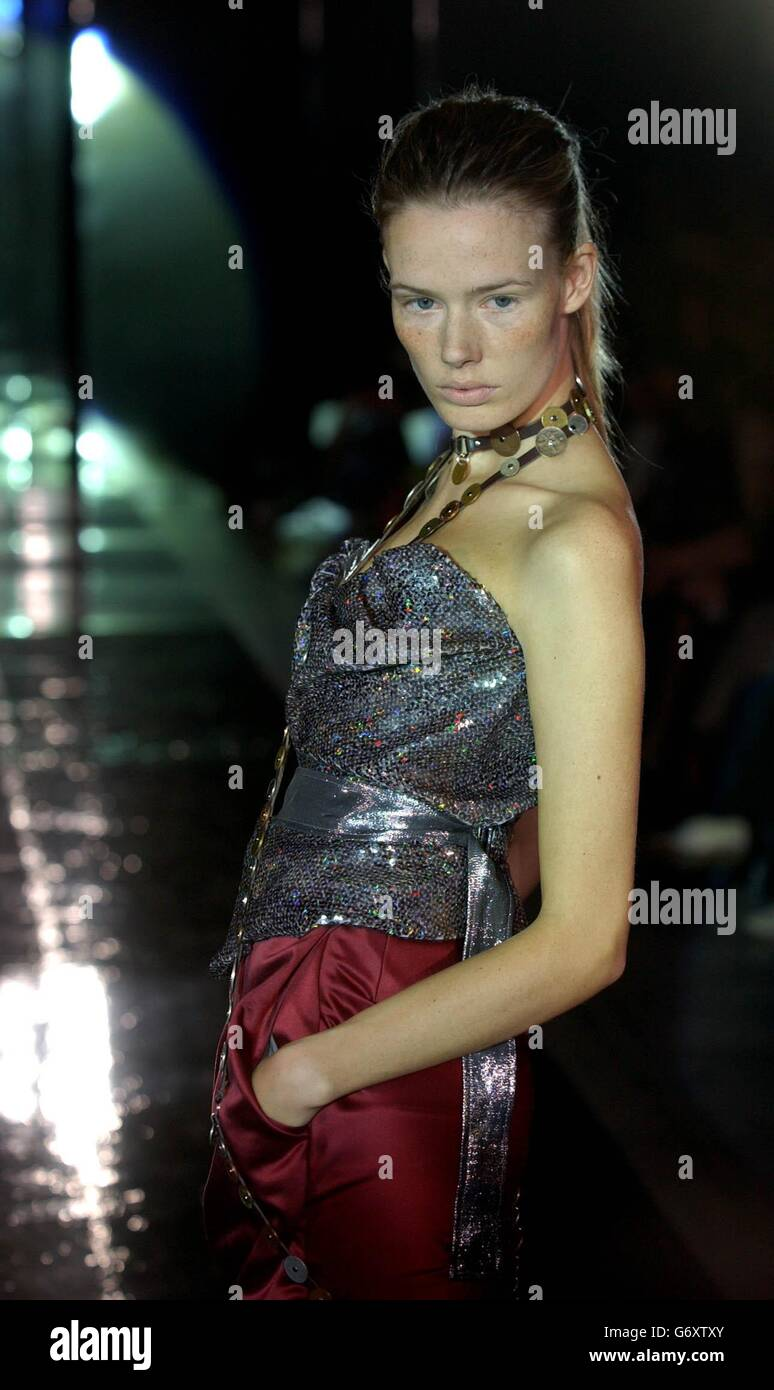 96a9e8579f4 Westwood Fashion In Motion Show Stock Photo: 107540467 - Alamy