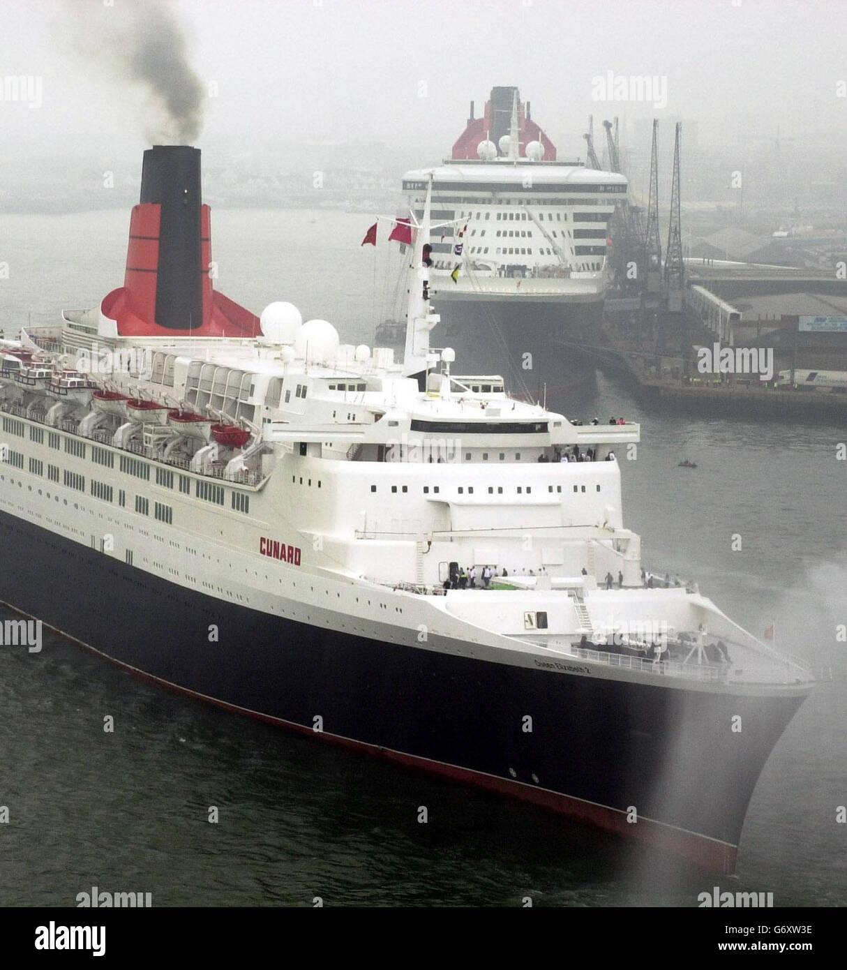 The QE 2 and the QM 2 - Stock Image