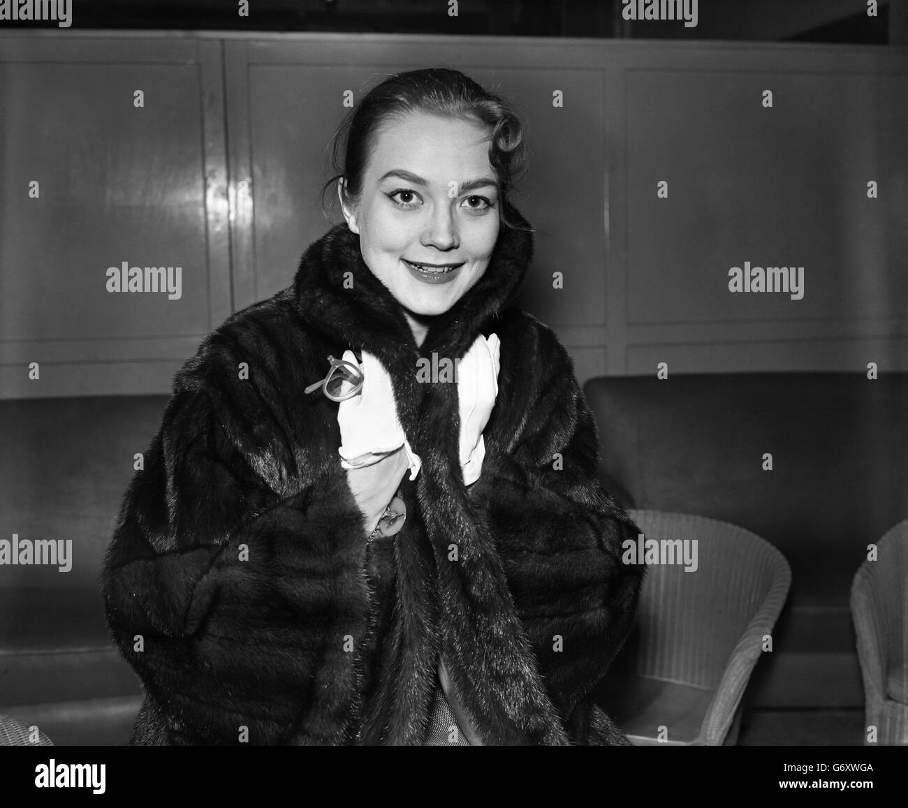 Film - Hollywood Actress Patrice Wymore - London Airport, London - Stock Image