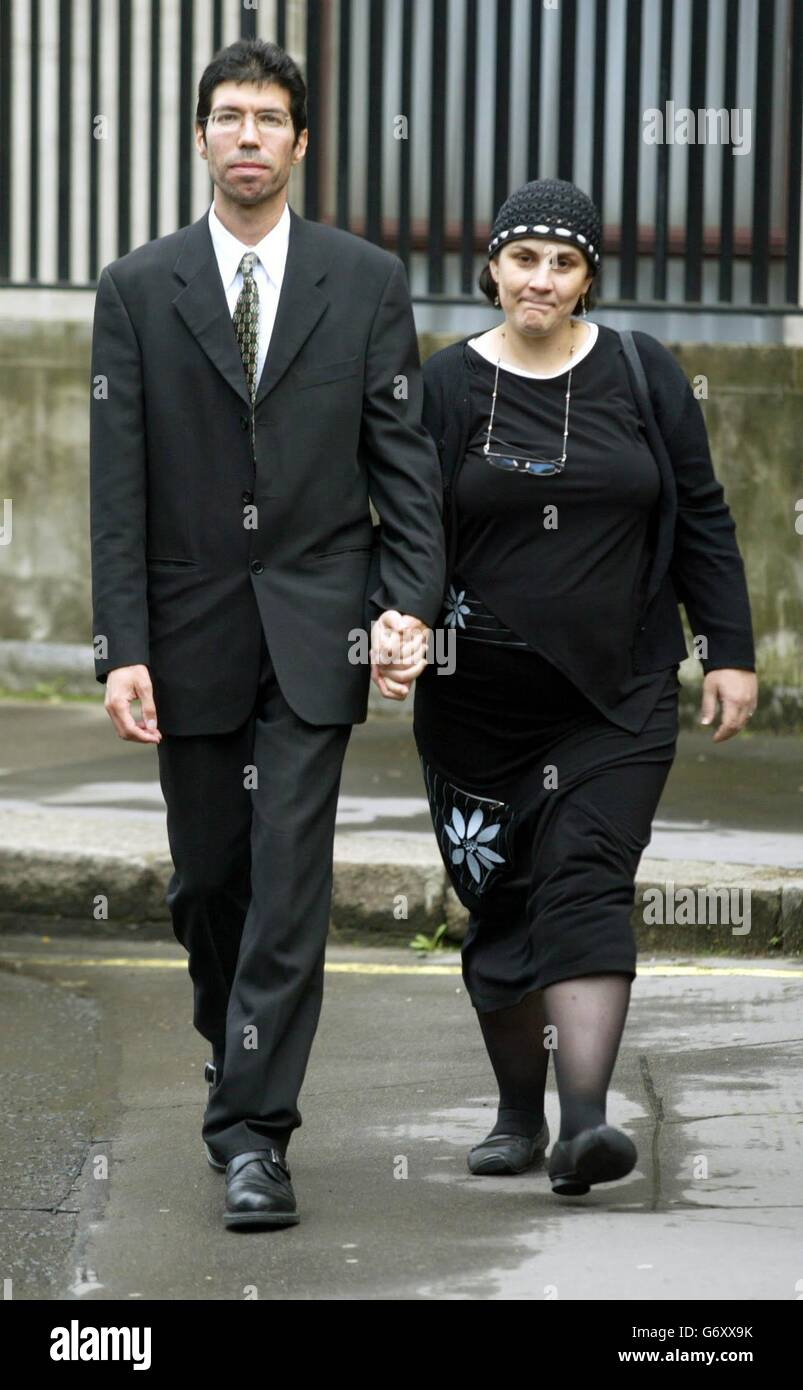 Nathalie Atter leaving the high court - Stock Image